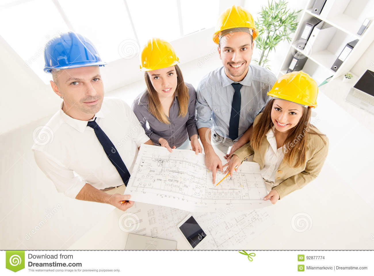 Successful Architects successful architects team stock photo - image: 92877774