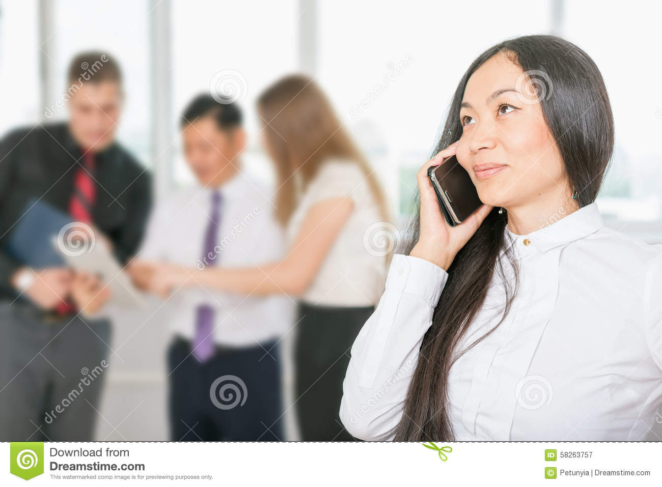 Successful Asian Business Woman Using Mobile Phone Stock ...