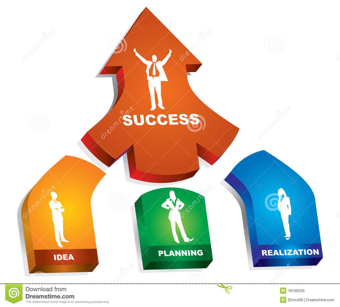A Successful Business Steps Stock Vector Illustration Of Develop