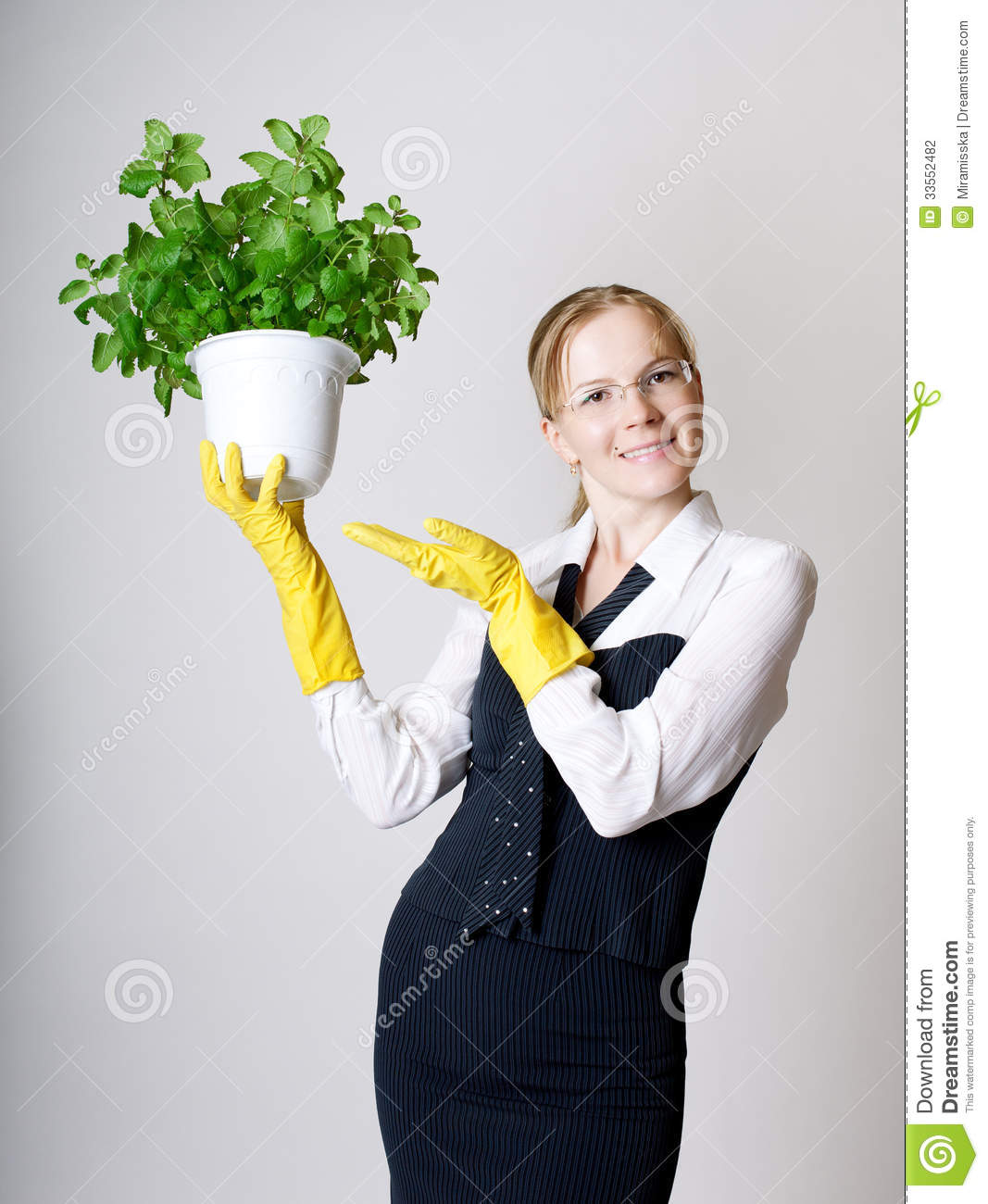 Successful business woman stock photography image 33552482 - Successful flower growing business ...