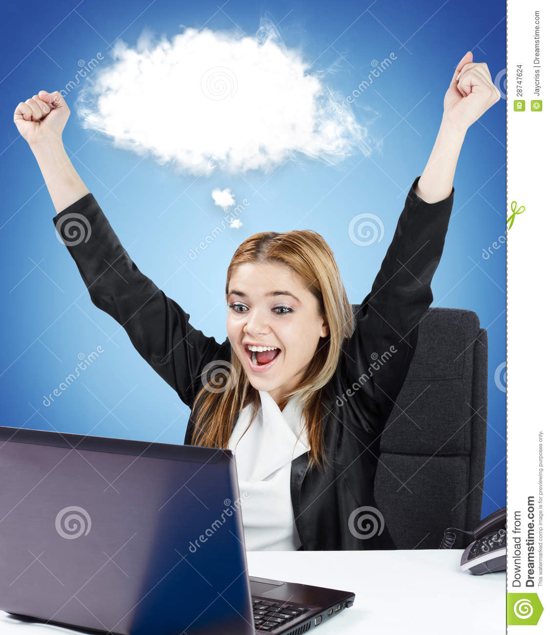 successful business w sitting at her desk stock images image successful business w sitting at her desk