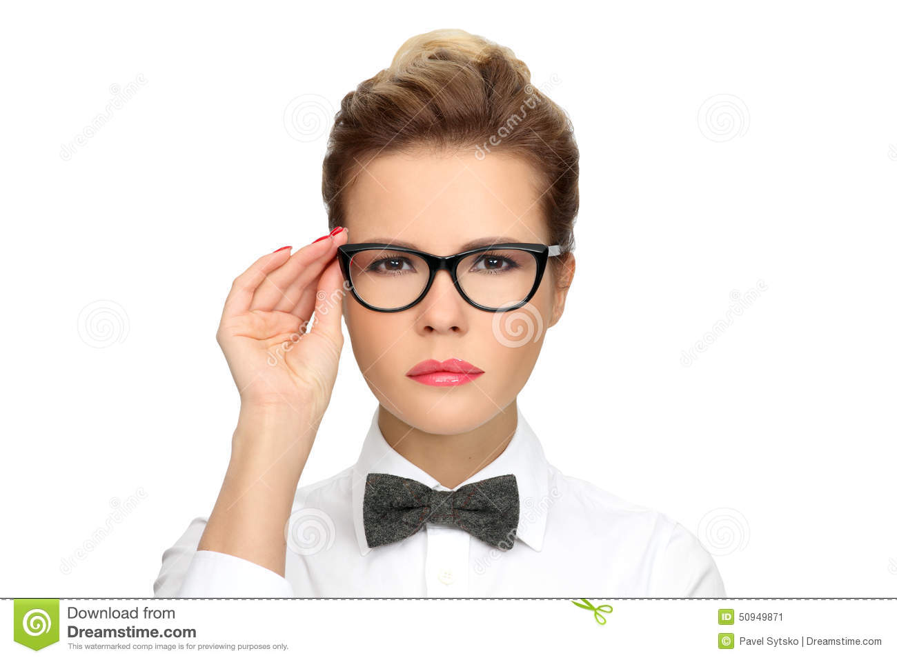 Diagram Bow Tie Electrical Wiring Tying Successful Business Woman Wearing Glasses A White Shirt Template Excel
