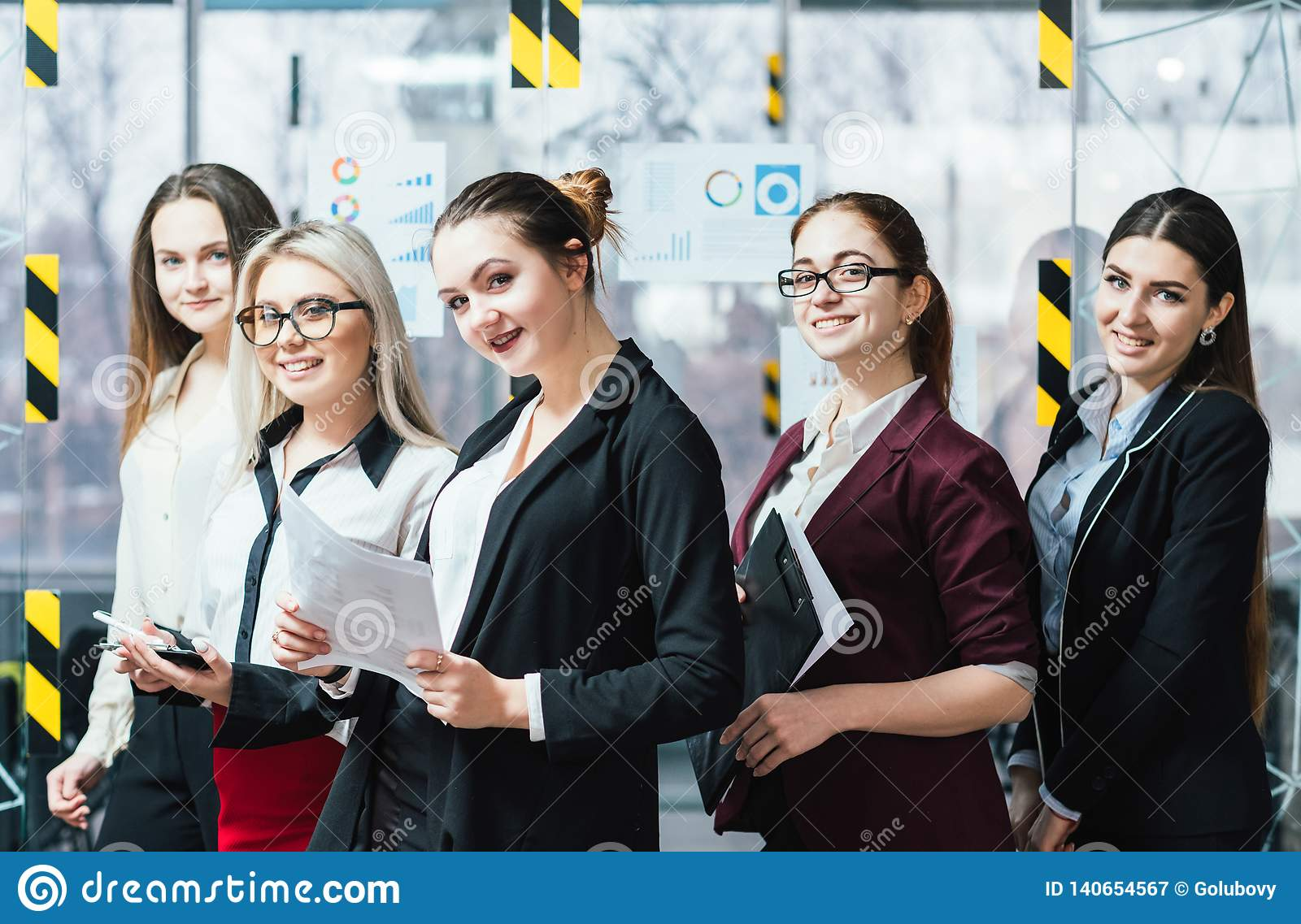 Successful business women confidence workspace