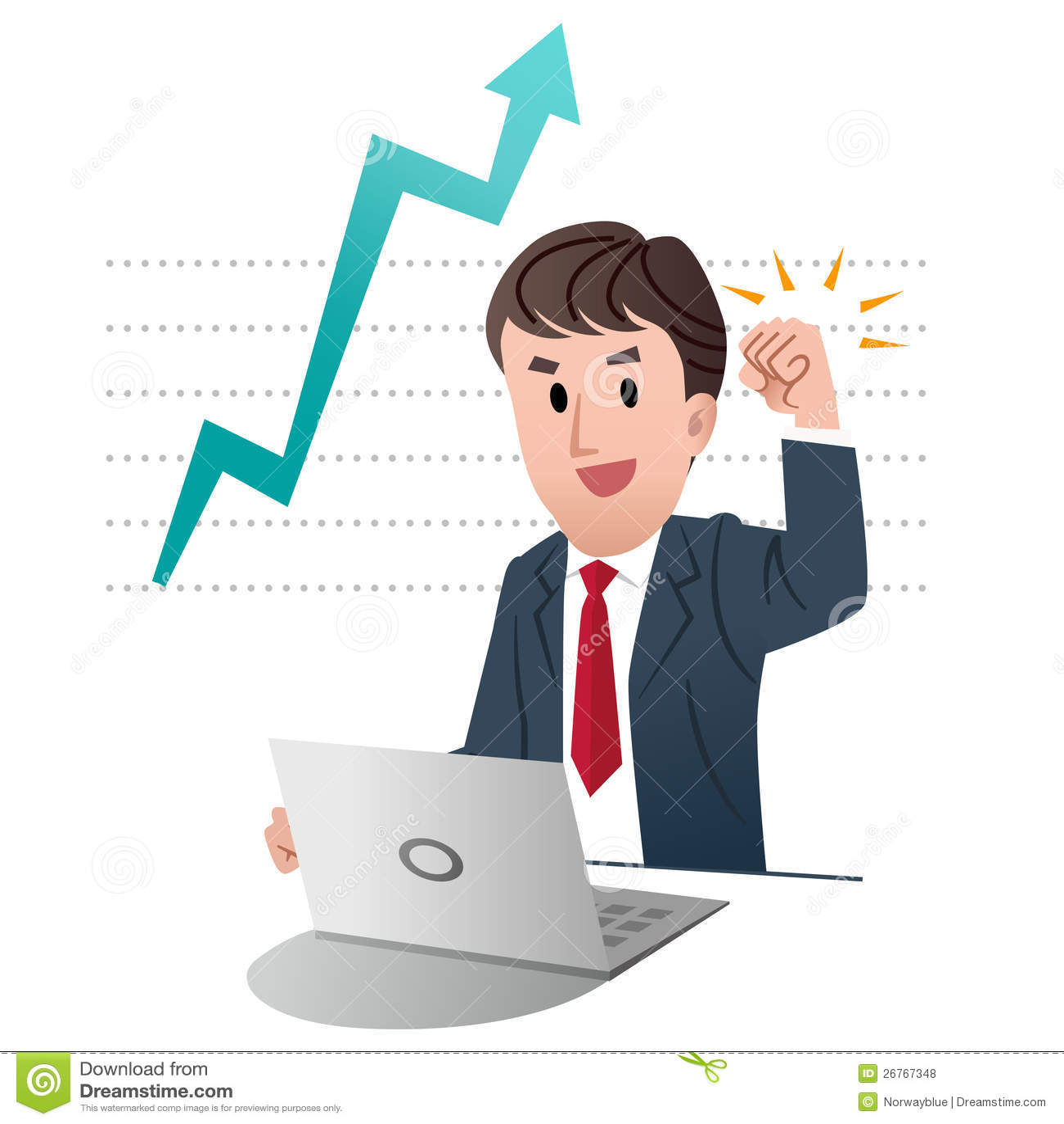 Successful Businessman Raising Fist Up In Air Stock Vector ...