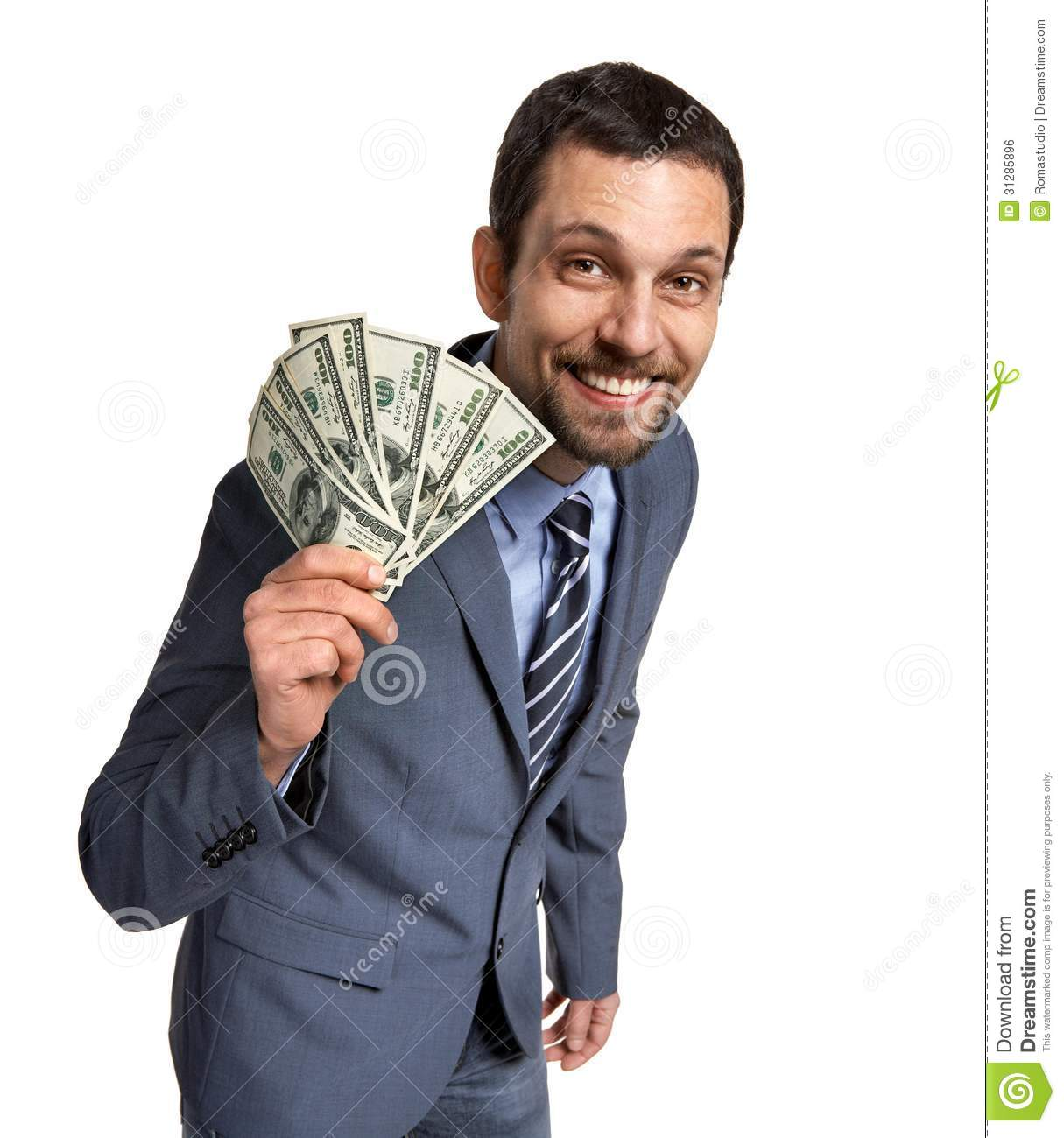 Successful Businessman Showing Money Royalty Free Stock Image - Image ...