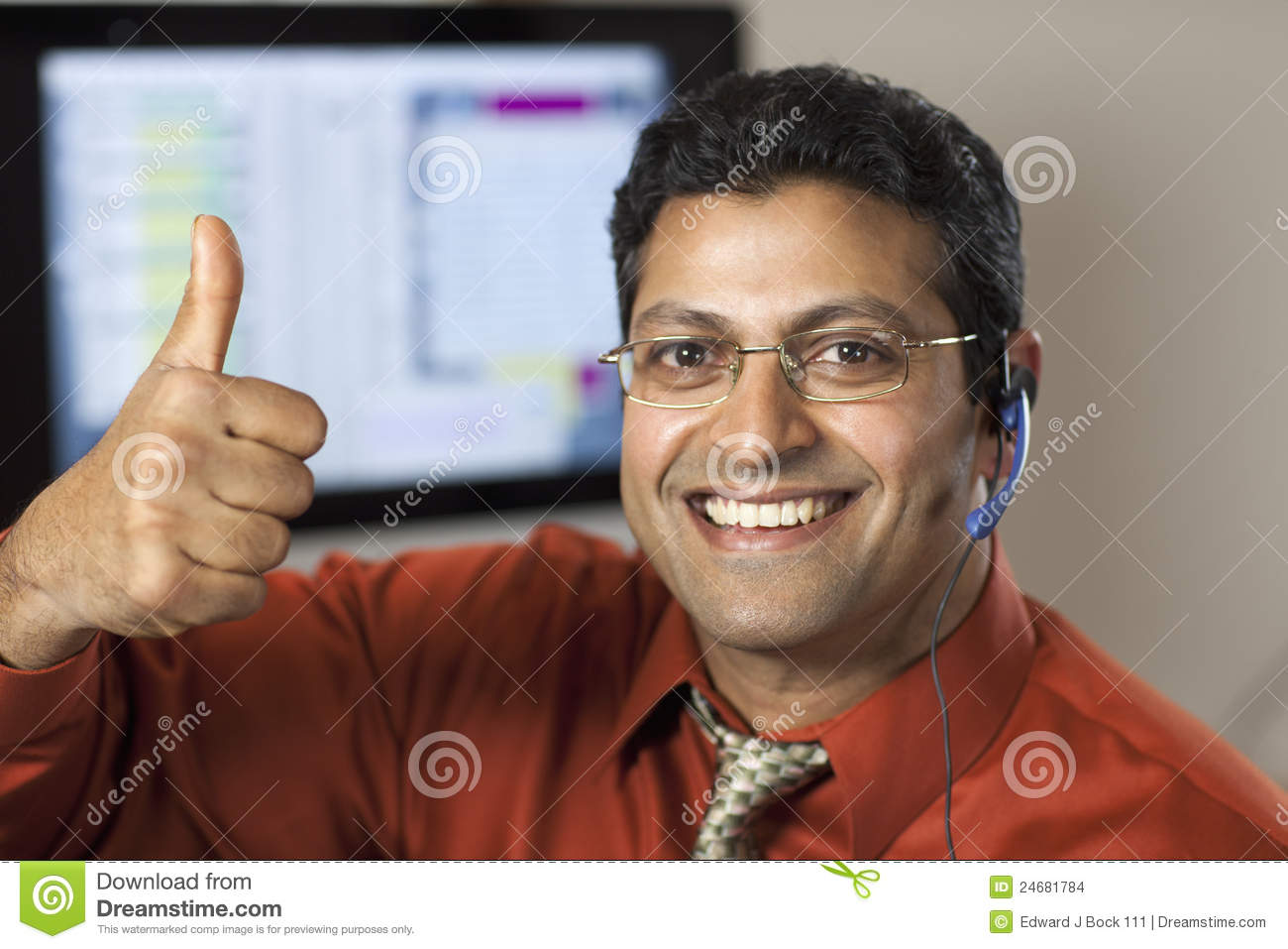 Successful Customer Service Rep Stock Images