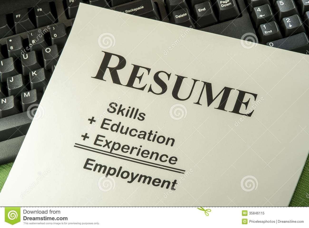 Resume Clipart Successful candidate resume:
