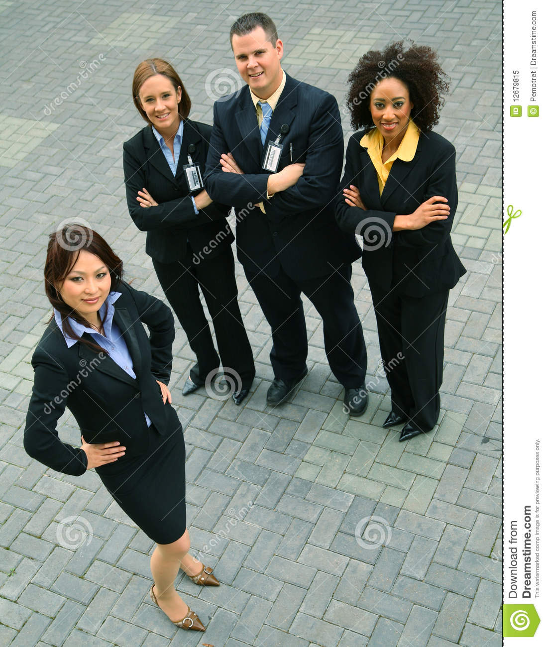 Successful Group Of Diversity Business People