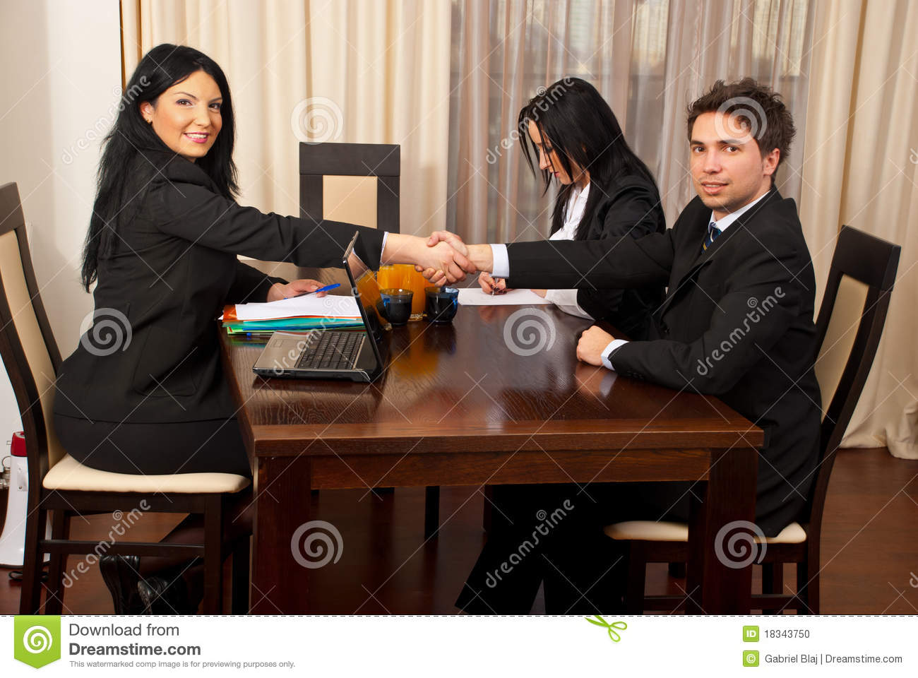 successful job interview stock photo image 18343750 successful job interview