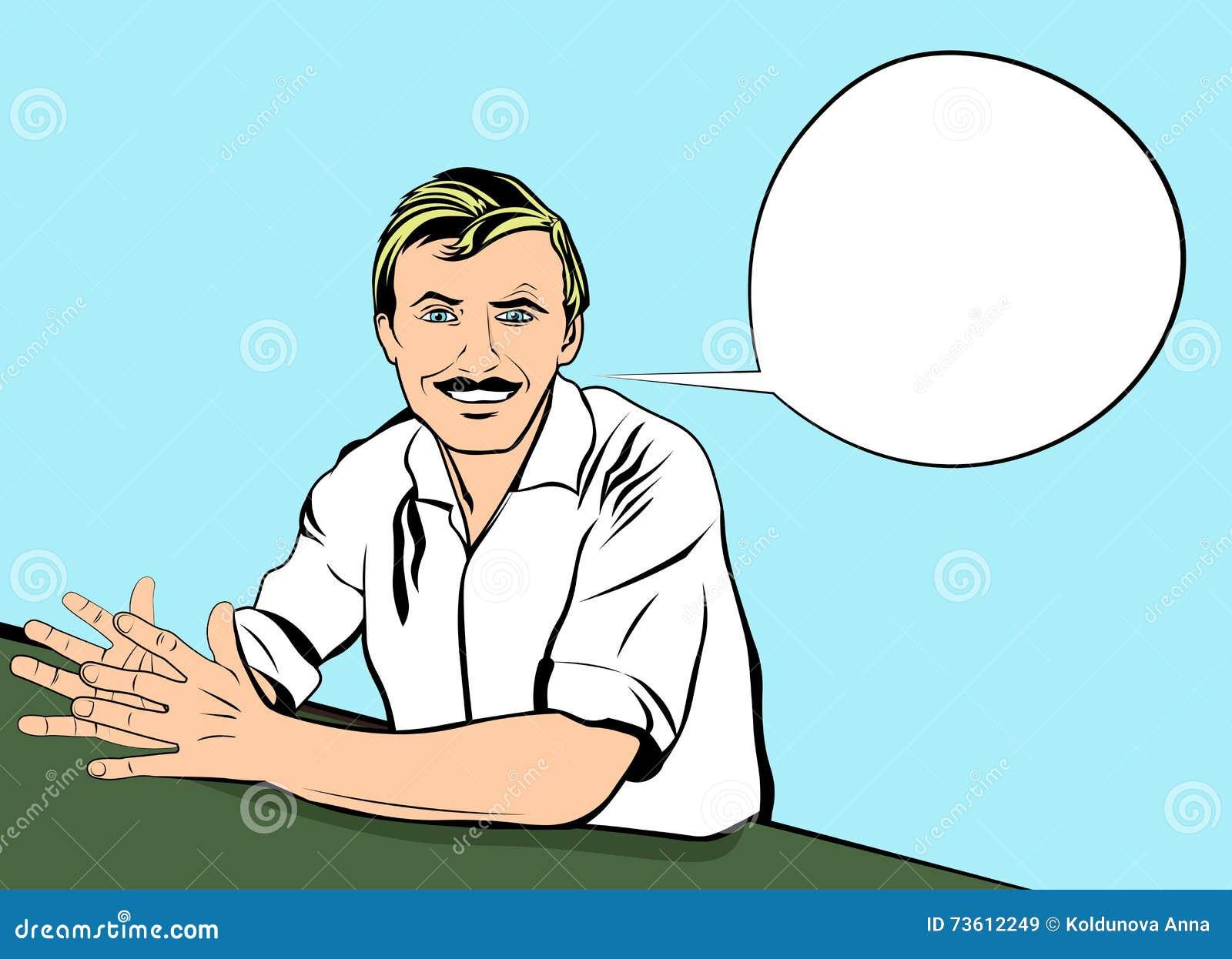 successful job interview in employment bright and colorful vector successful job interview in employment bright and colorful vector pop art style