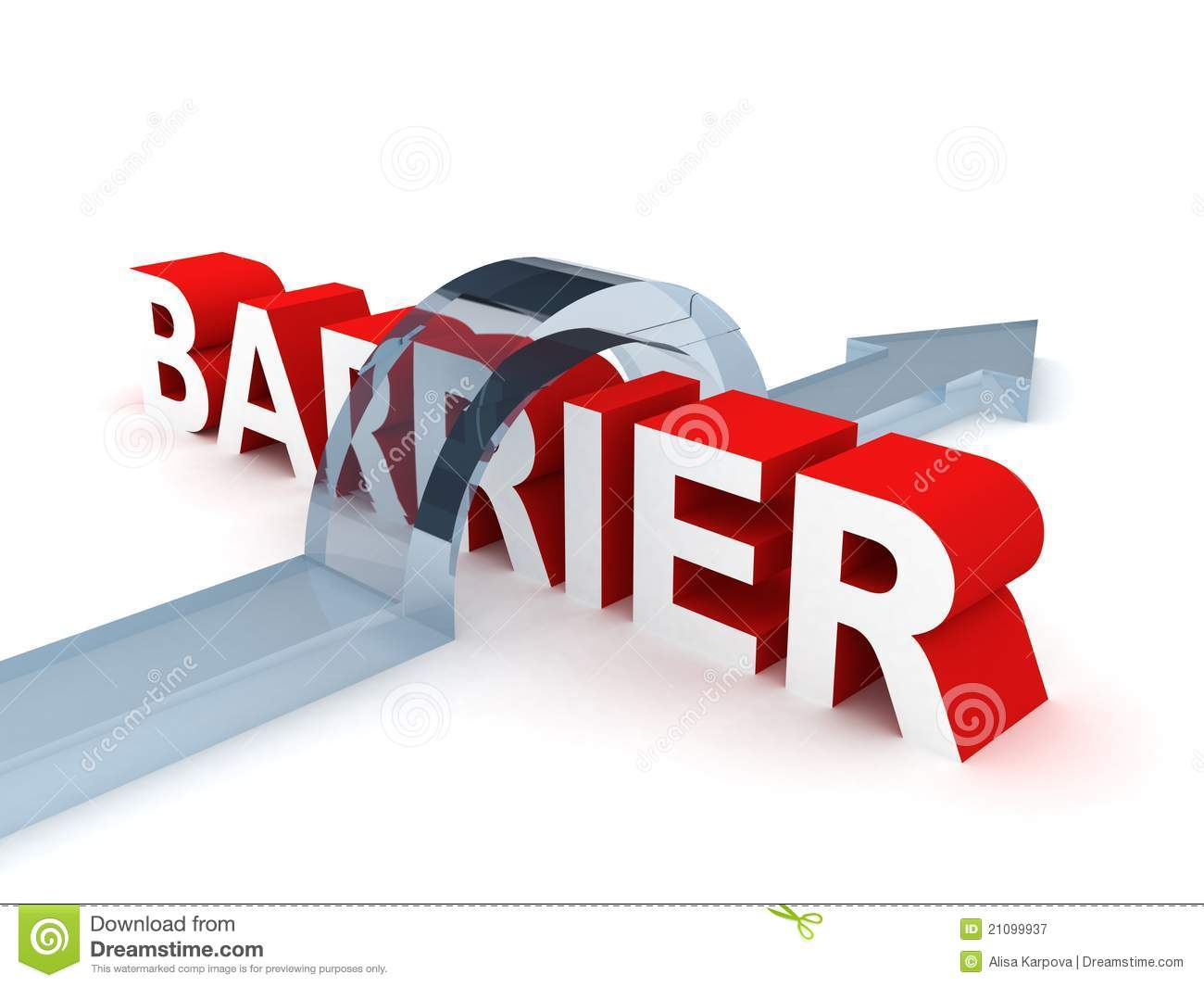 Successful overcoming the difficult barrier stock image