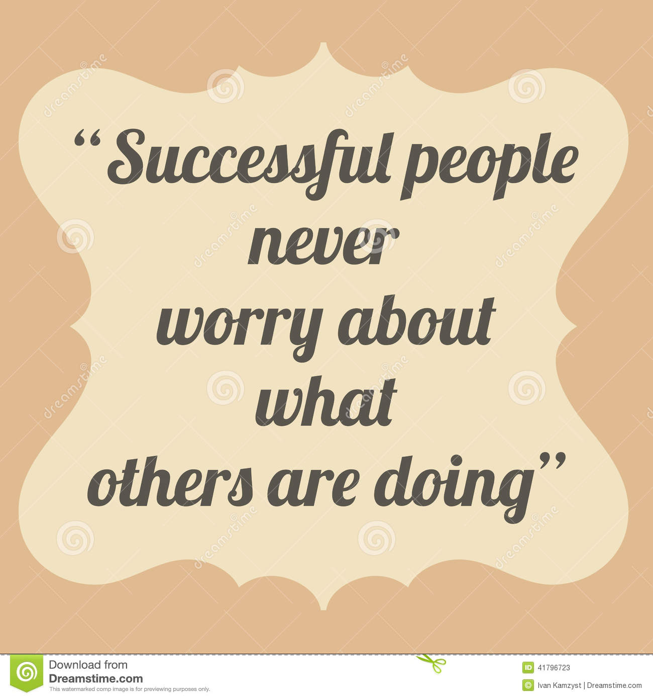 Inspirational Success Pics Download: Successful People Never Worry About What Others Are Doing