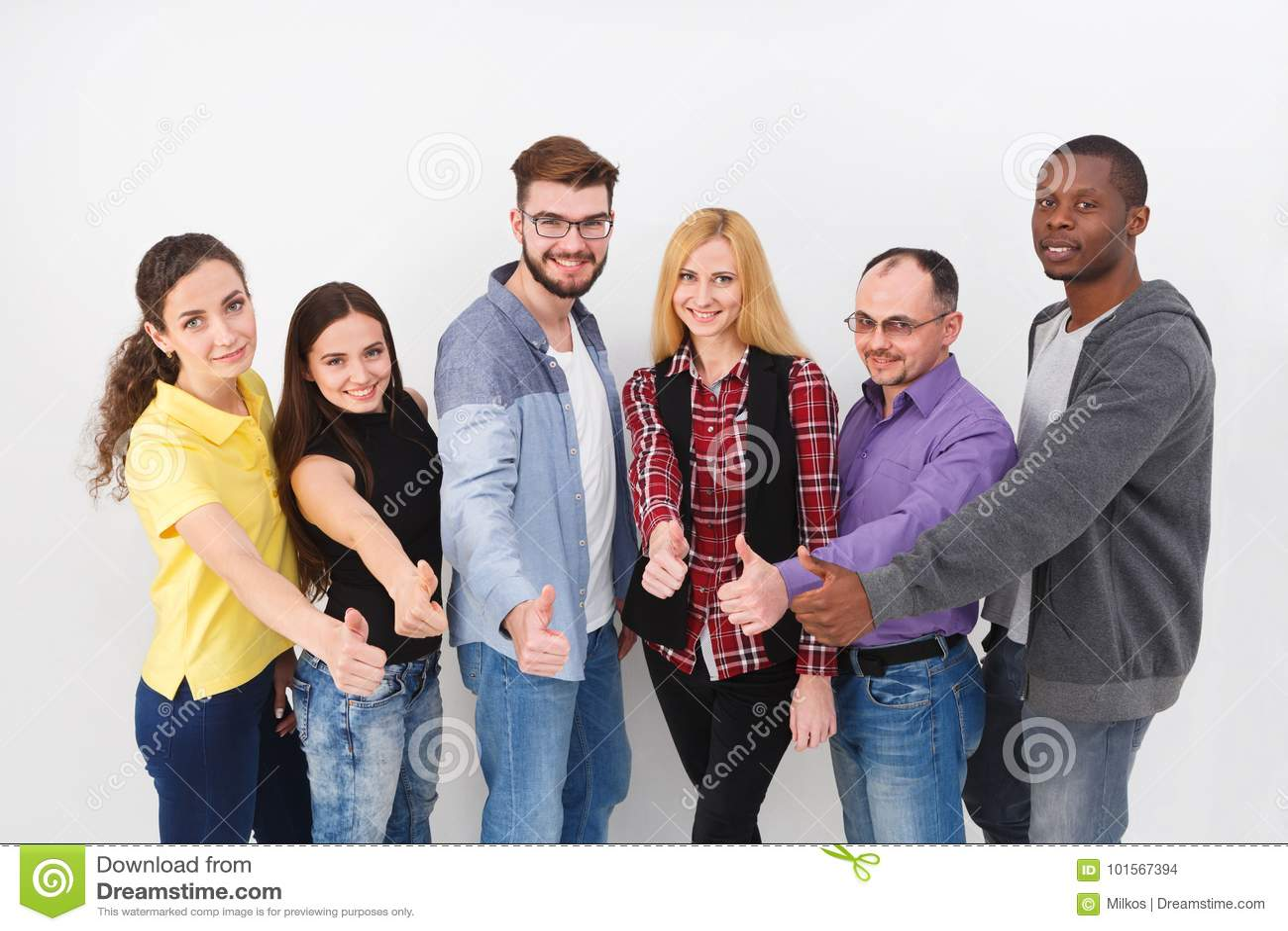 Successful team concept. Confident business people