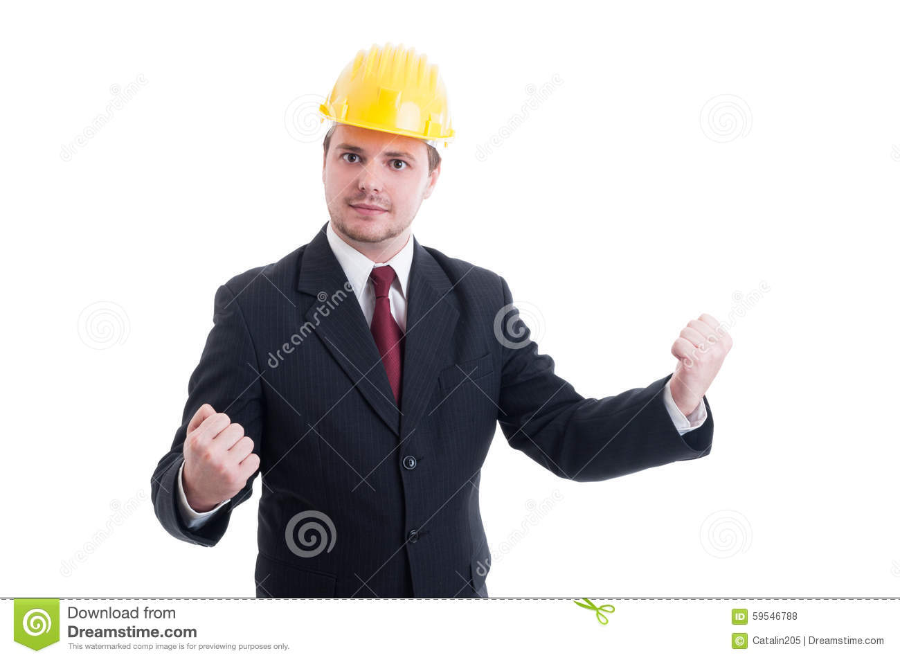 Successful And Victorious Engineer Architect Or