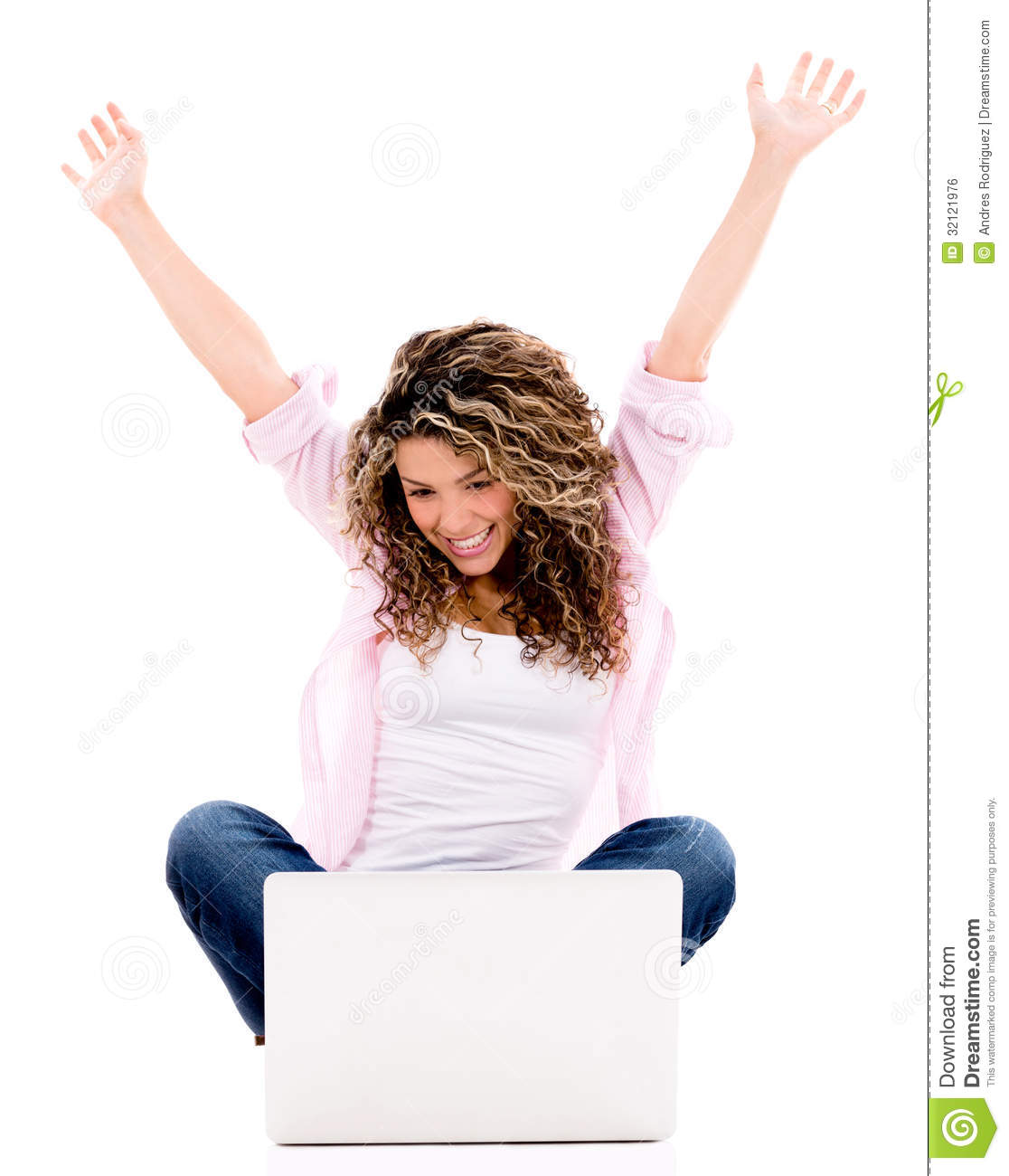 successful w a laptop royalty stock image image successful w a laptop