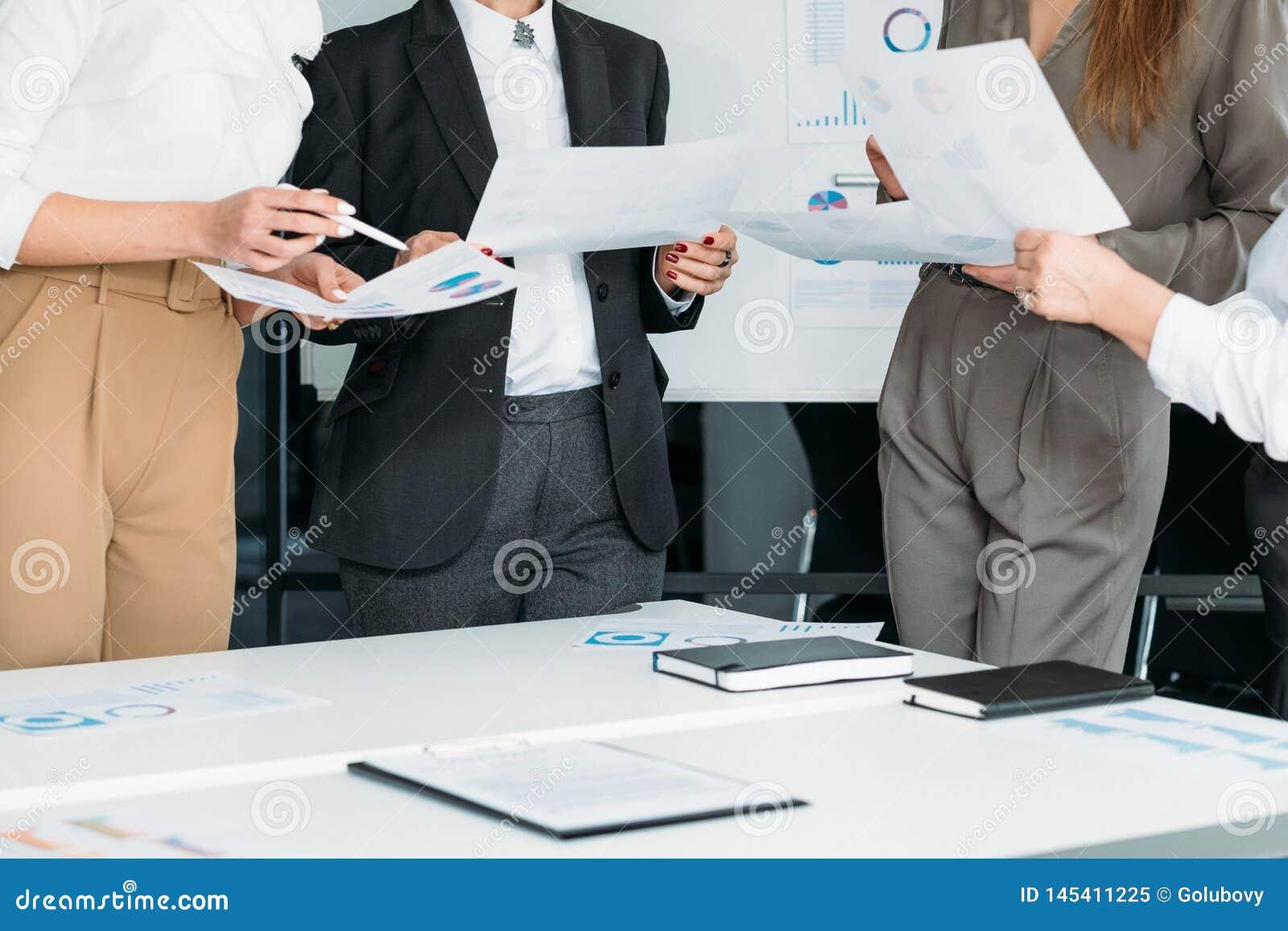 Successful women business corporate meeting