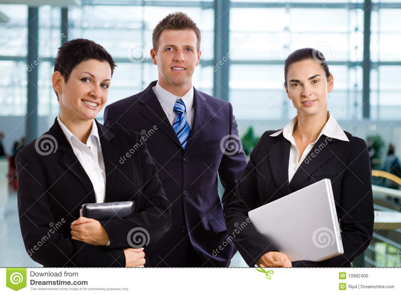 Successful young business people