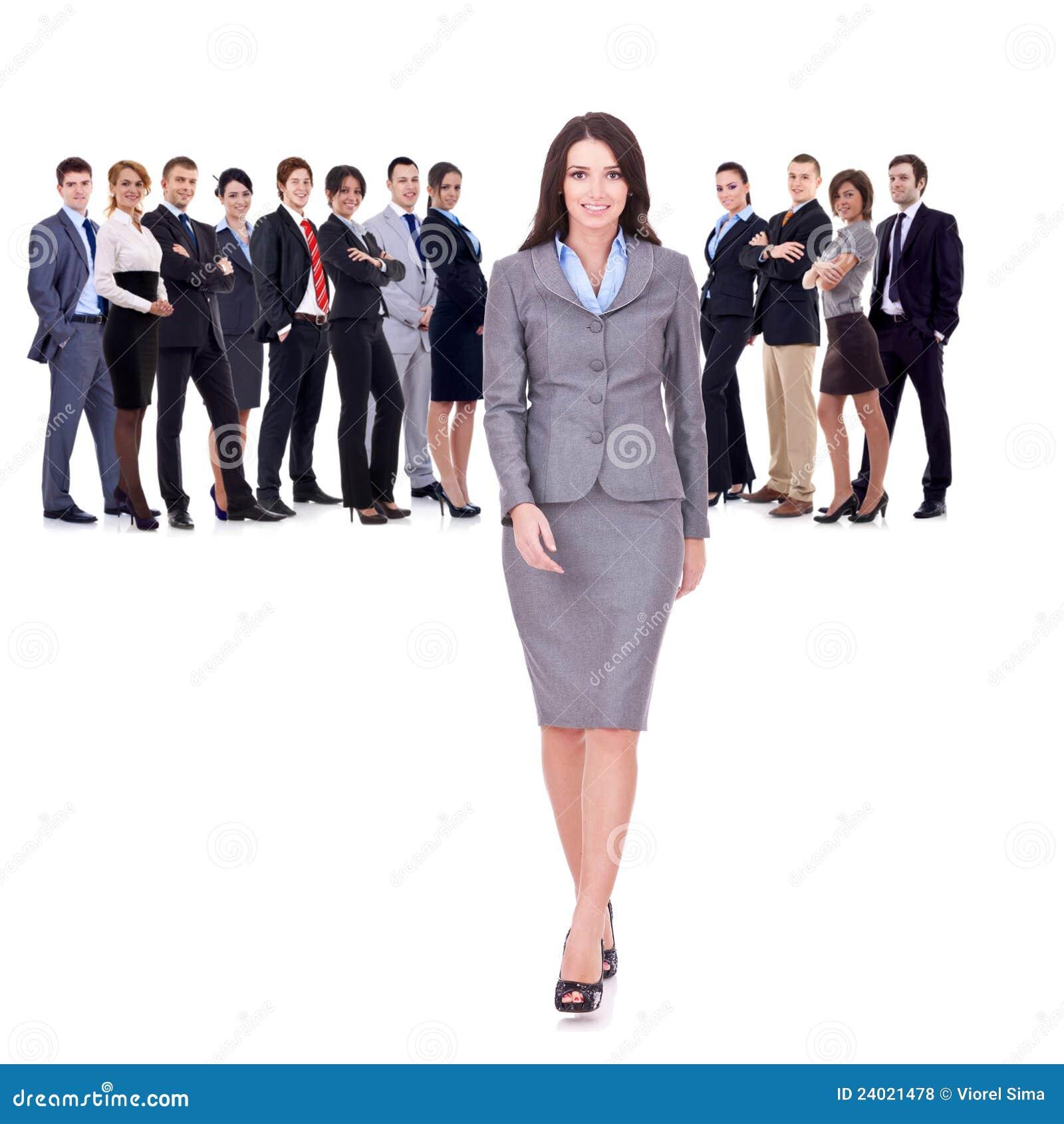Succesvol gelukkig commercieel team