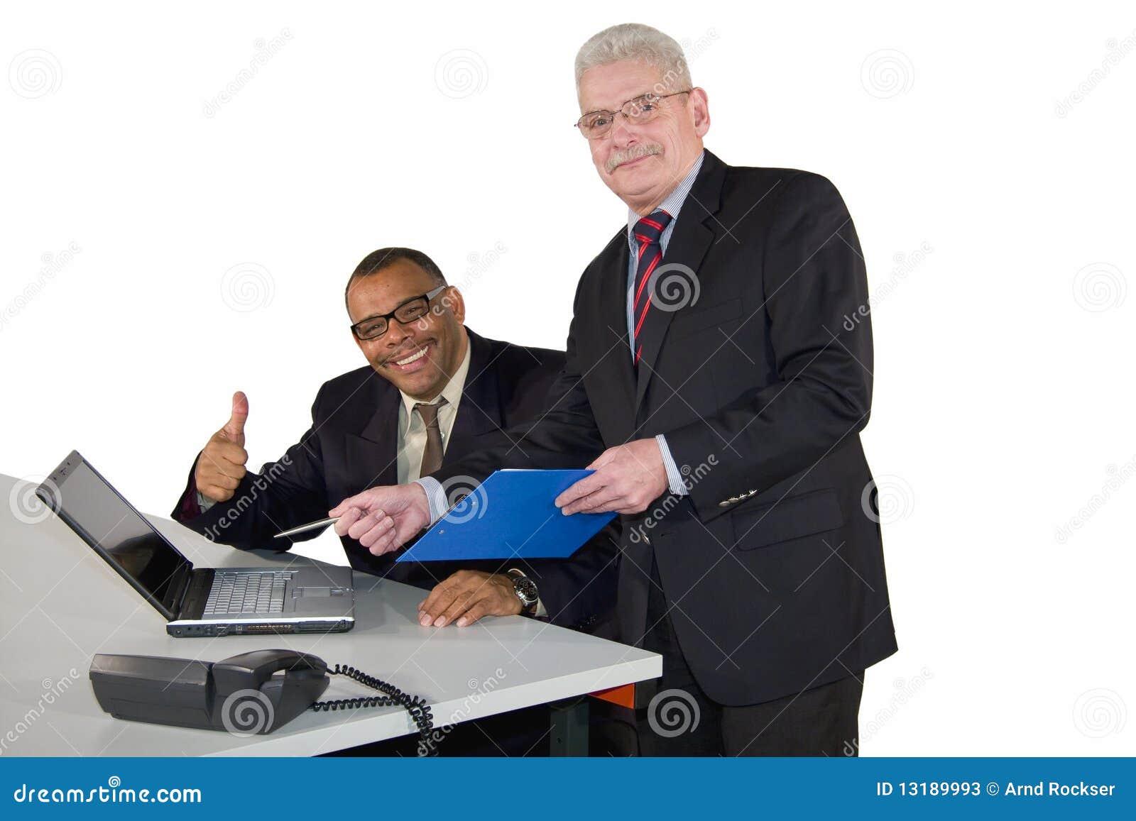 Succesvol interracial commercieel team