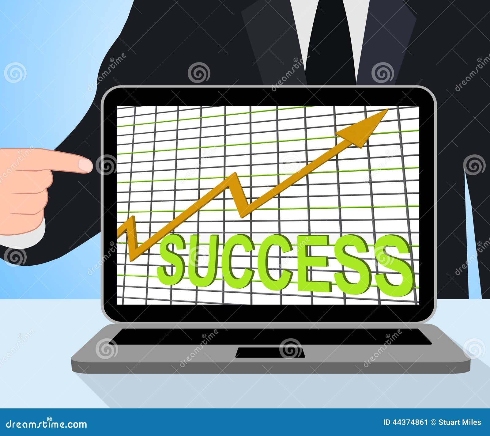 Of Succesvolle de Grafiekvertoningen die van de succesgrafiek winnen
