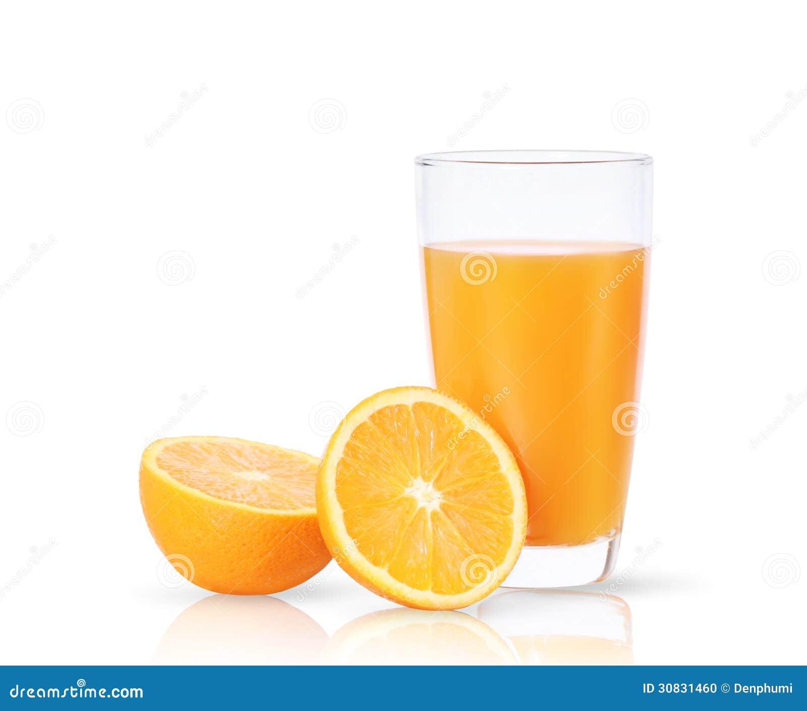 Succo d arancia e fette