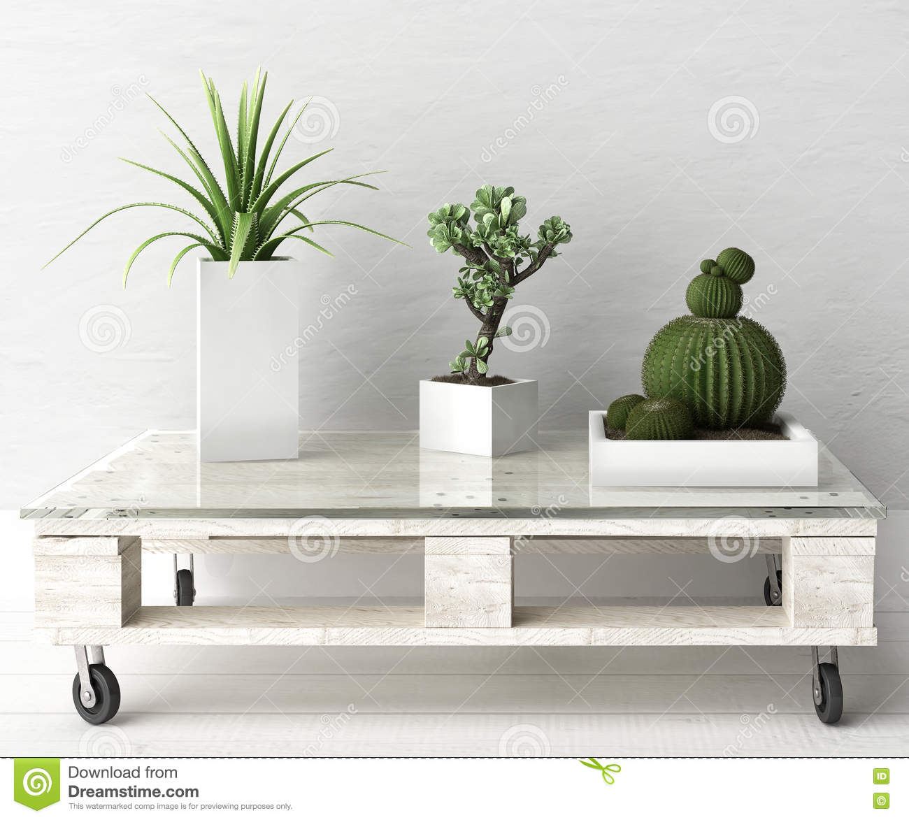 Succulent plants on pallet coffee table stock illustration image royalty free illustration download succulent plants on pallet coffee table geotapseo Gallery
