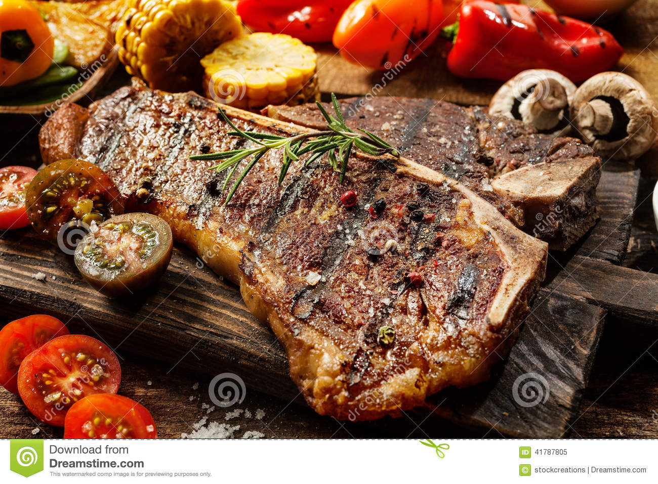 Succulent tender grilled porterhouse steak