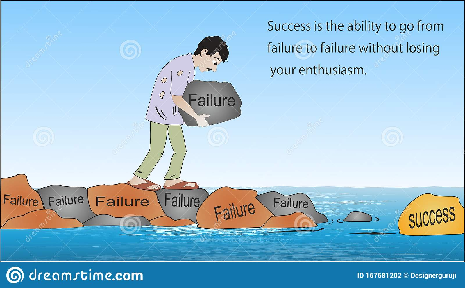 Sucess Is The Ability To Go From Failure Stock Illustration Illustration Of Truth Time 167681202 The best gifs are on giphy. https www dreamstime com sucess ability to go failure losing your enthuiasm image167681202