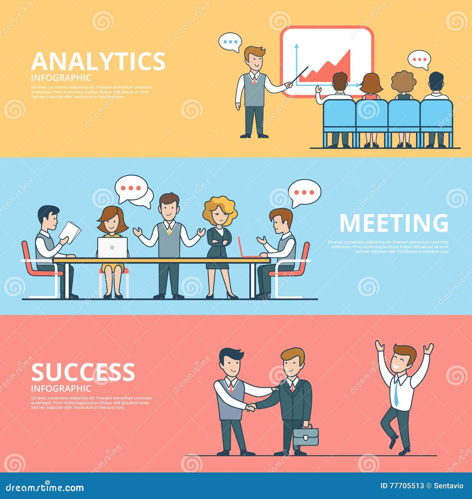 Sucesso liso linear no encontro da analítica do negócio