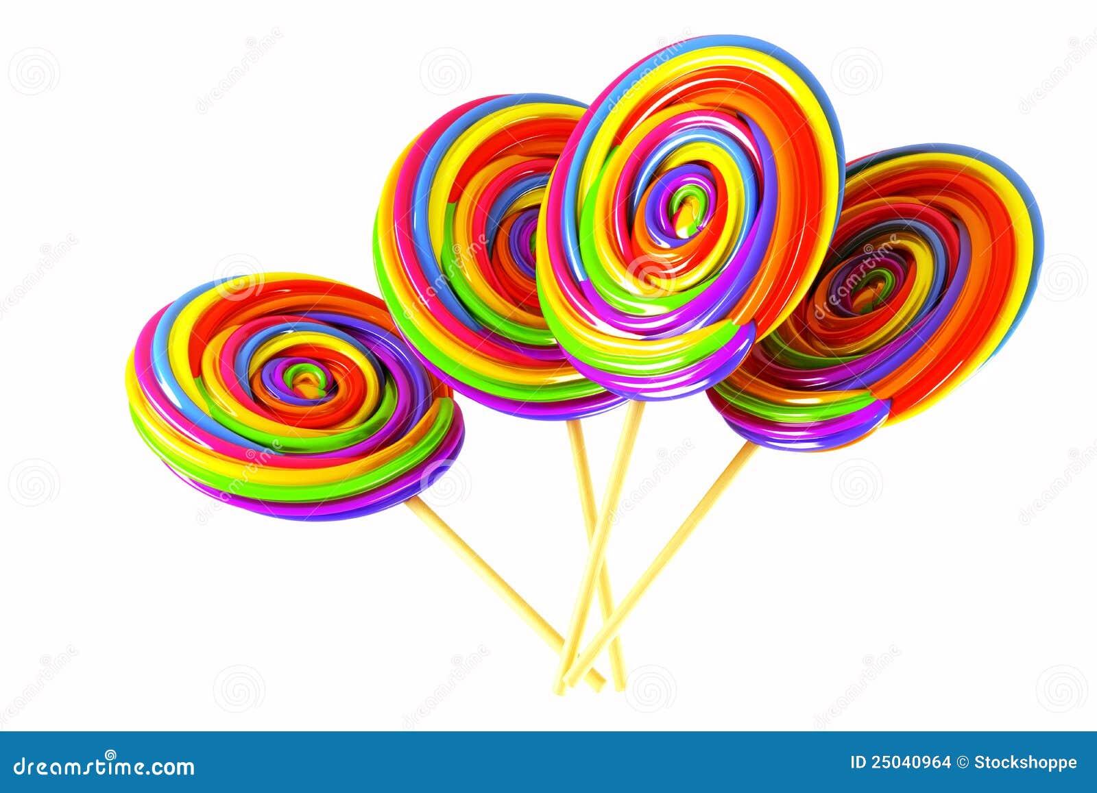 sucette colore de sucrerie - Sucette Colore