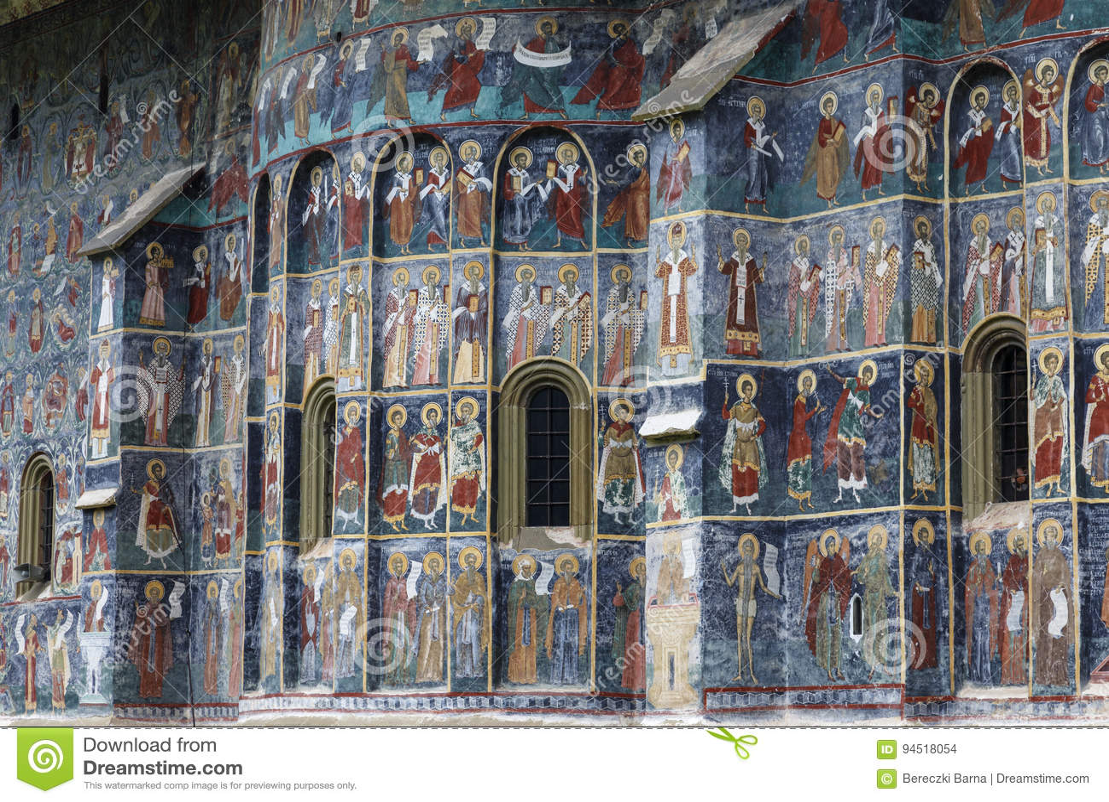 Sucevita, Voronet, monastero, il monasterie dipinto famoso in Romania