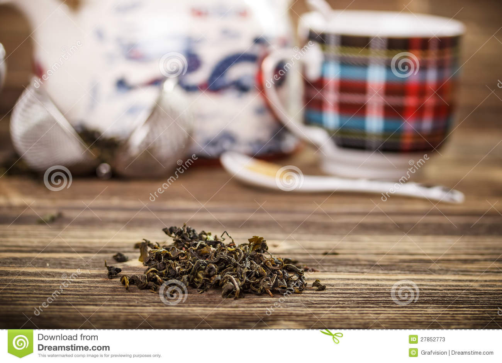 Sucha zielona herbata