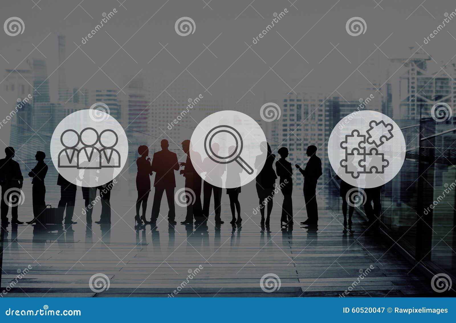 Suchen des Personalwesen-Einstellungs-Teamwork-Unternehmenskonzeptes