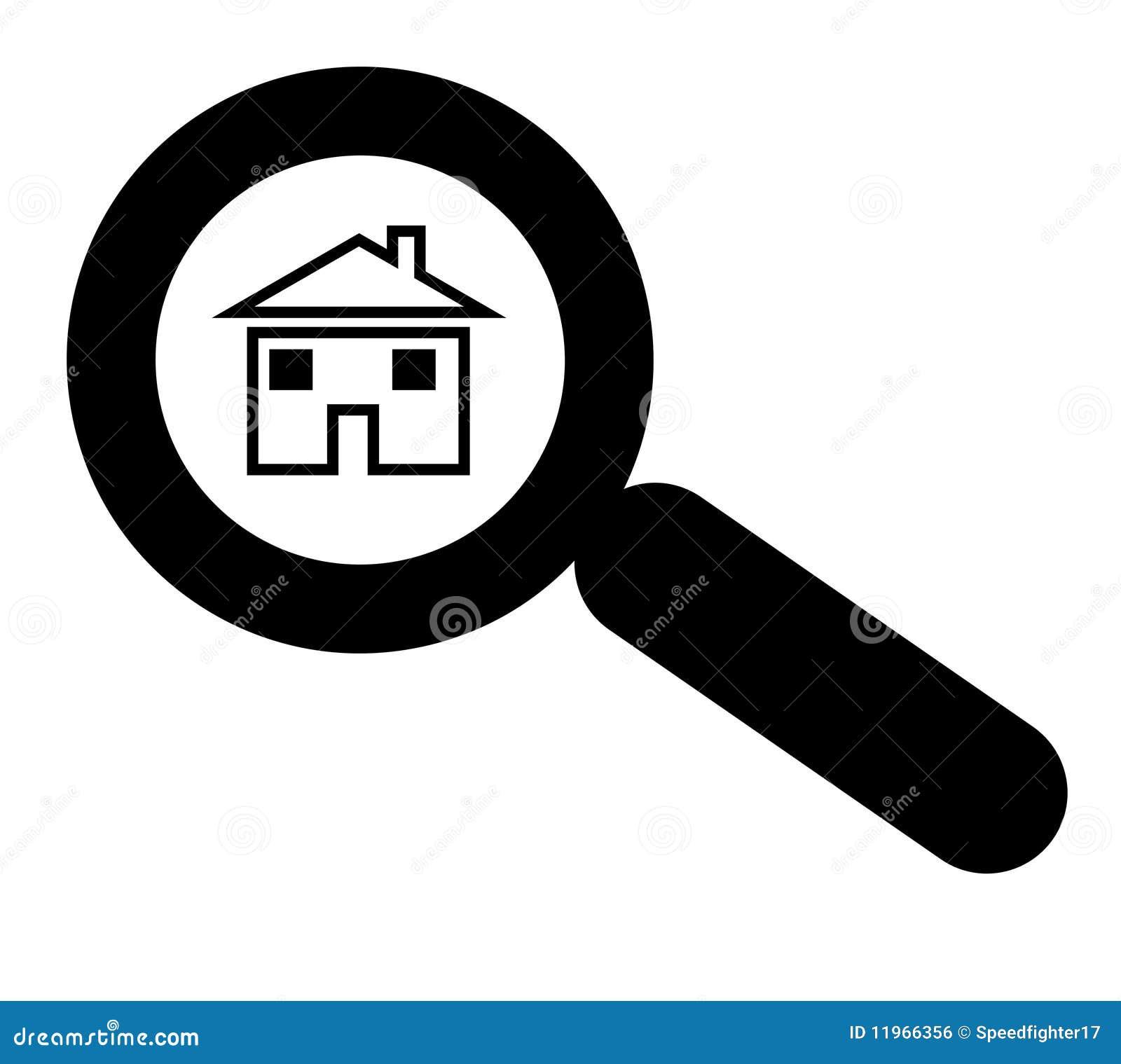 Suchen haus oder nach haus stock abbildung illustration for Haus suchen