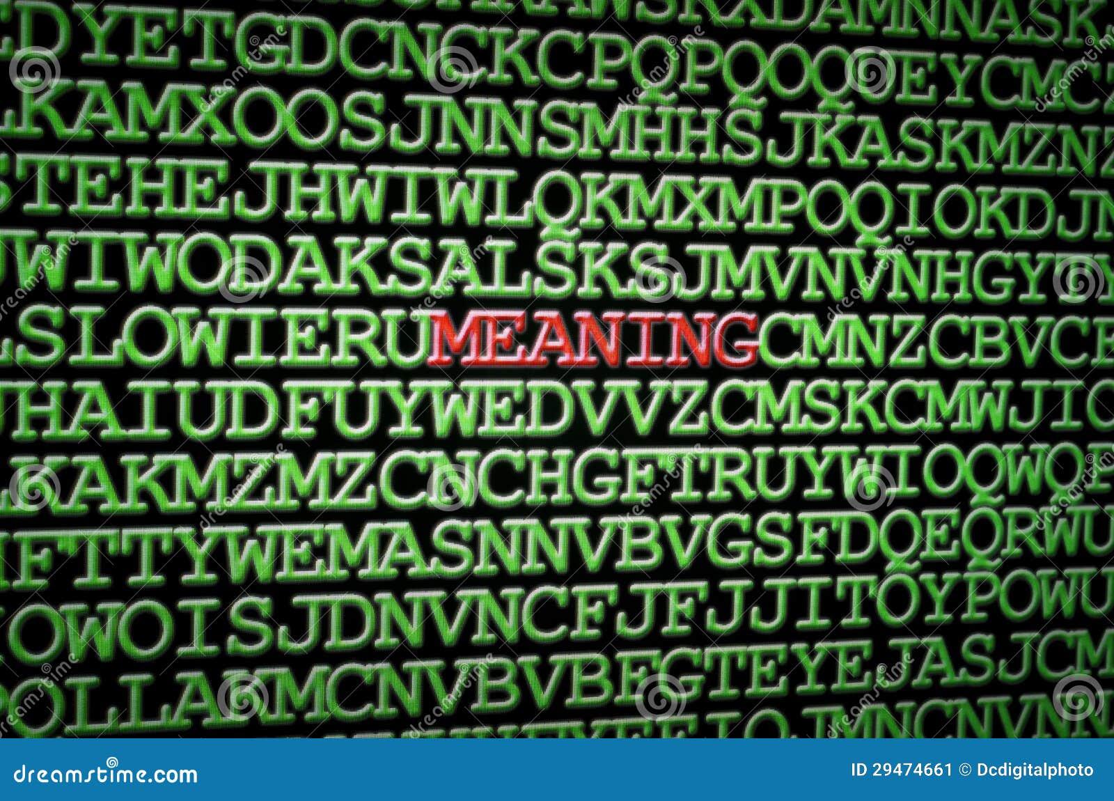 Suchen Nach Der Bedeutung Stockbild Bild Von Leben Grün 29474661
