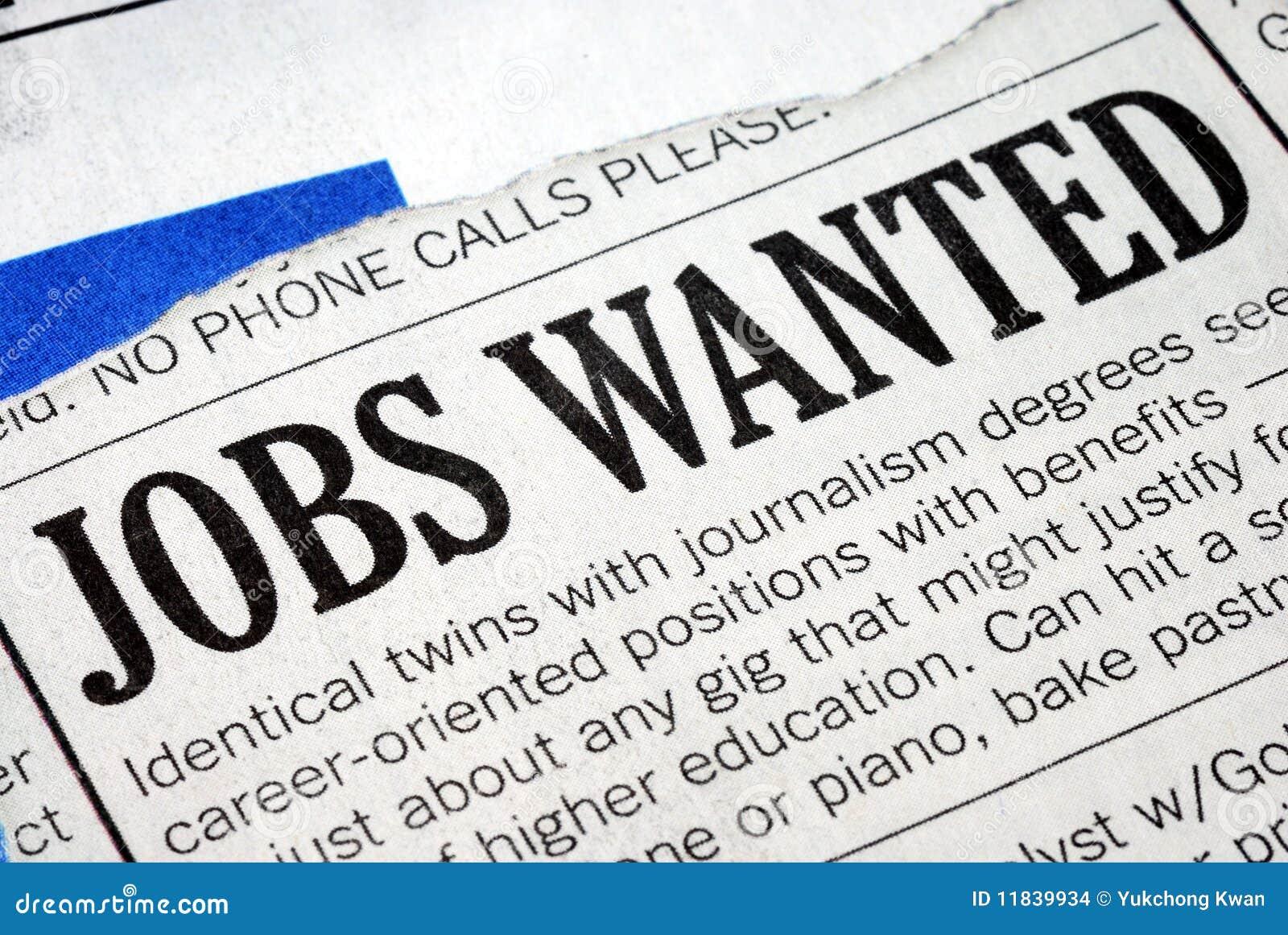 Suchen nach einem Job