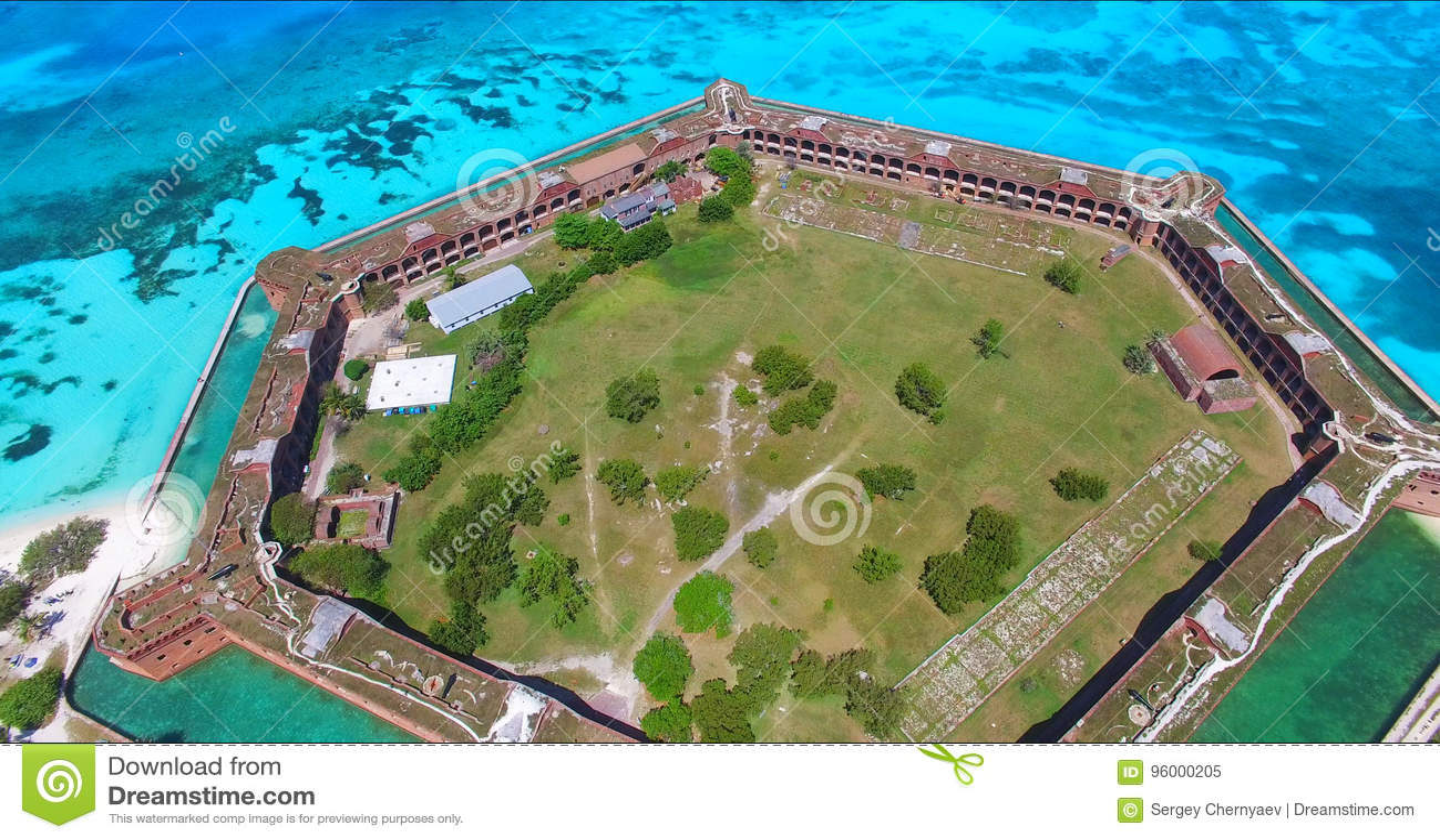 Suchy Tortugas park narodowy, fort Jefferson Floryda USA