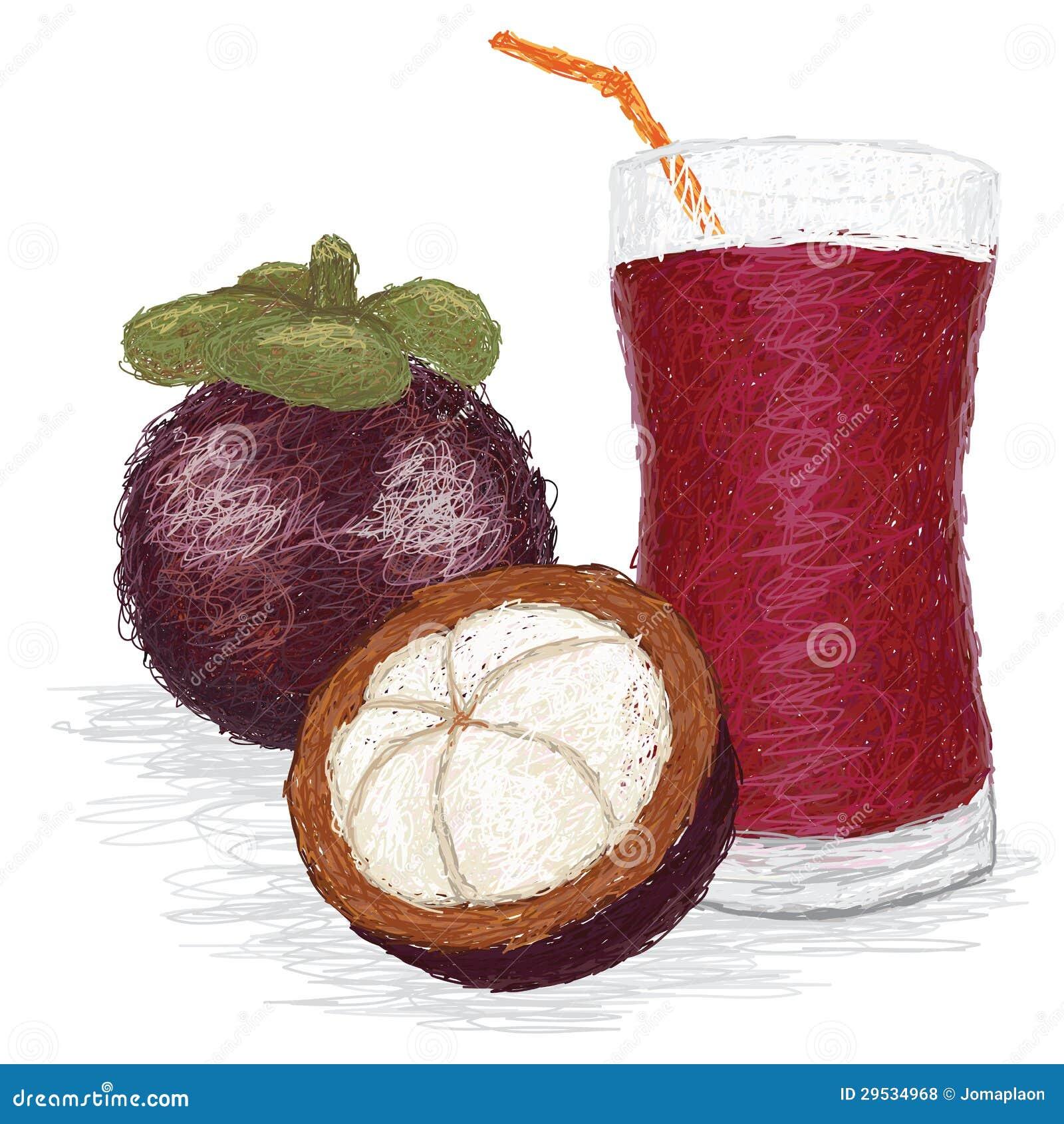 Suco de fruto do mangustão