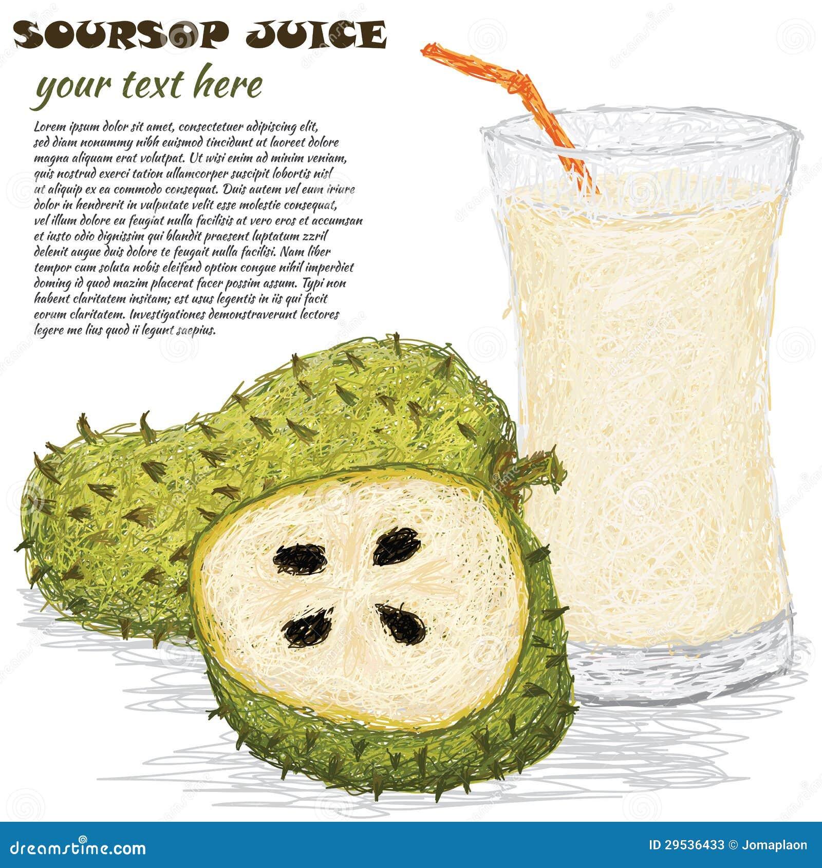 Suco de fruto do Soursop