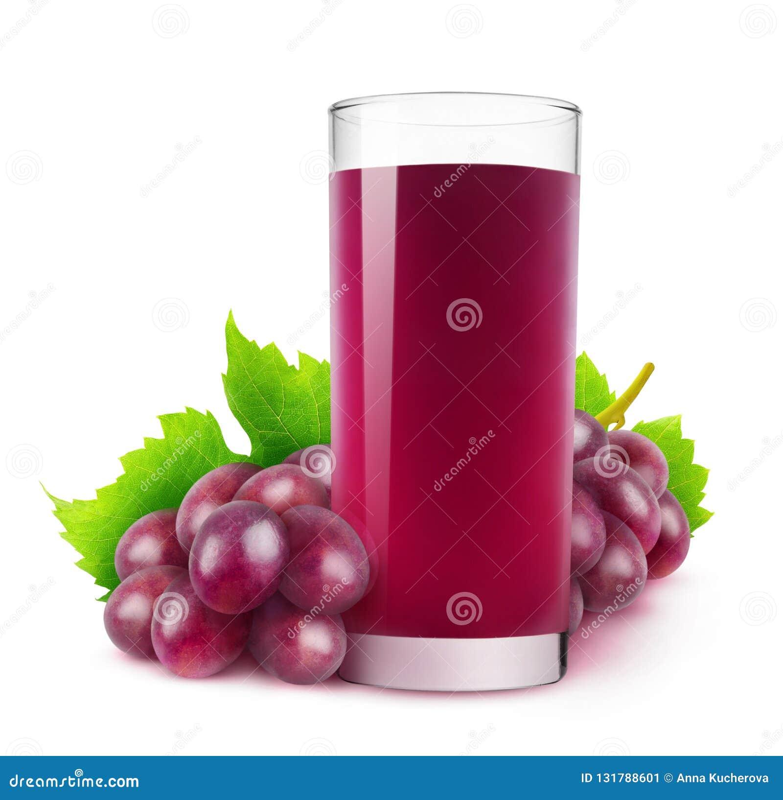 Suco de uva vermelha isolado