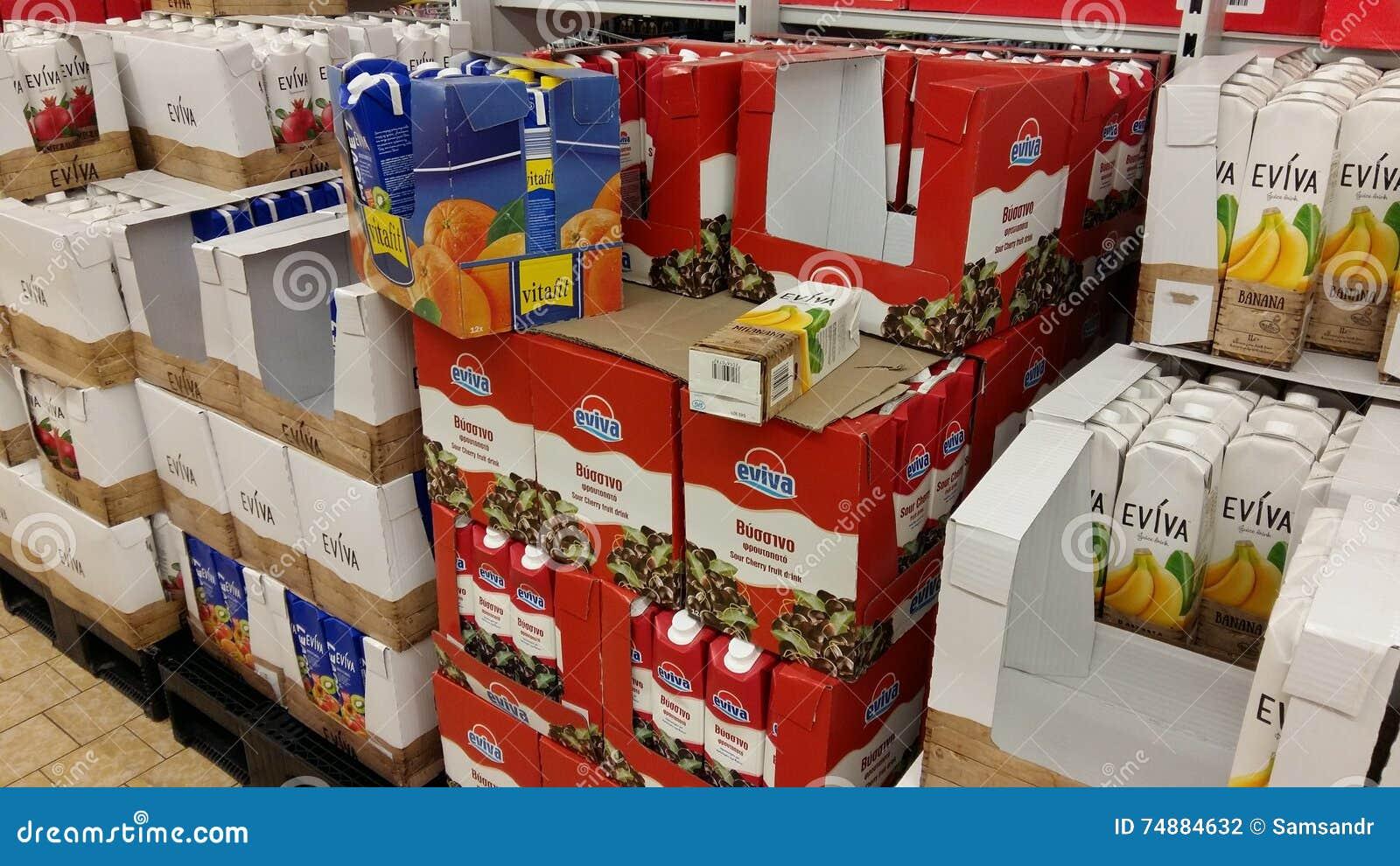 Suco no supermercado