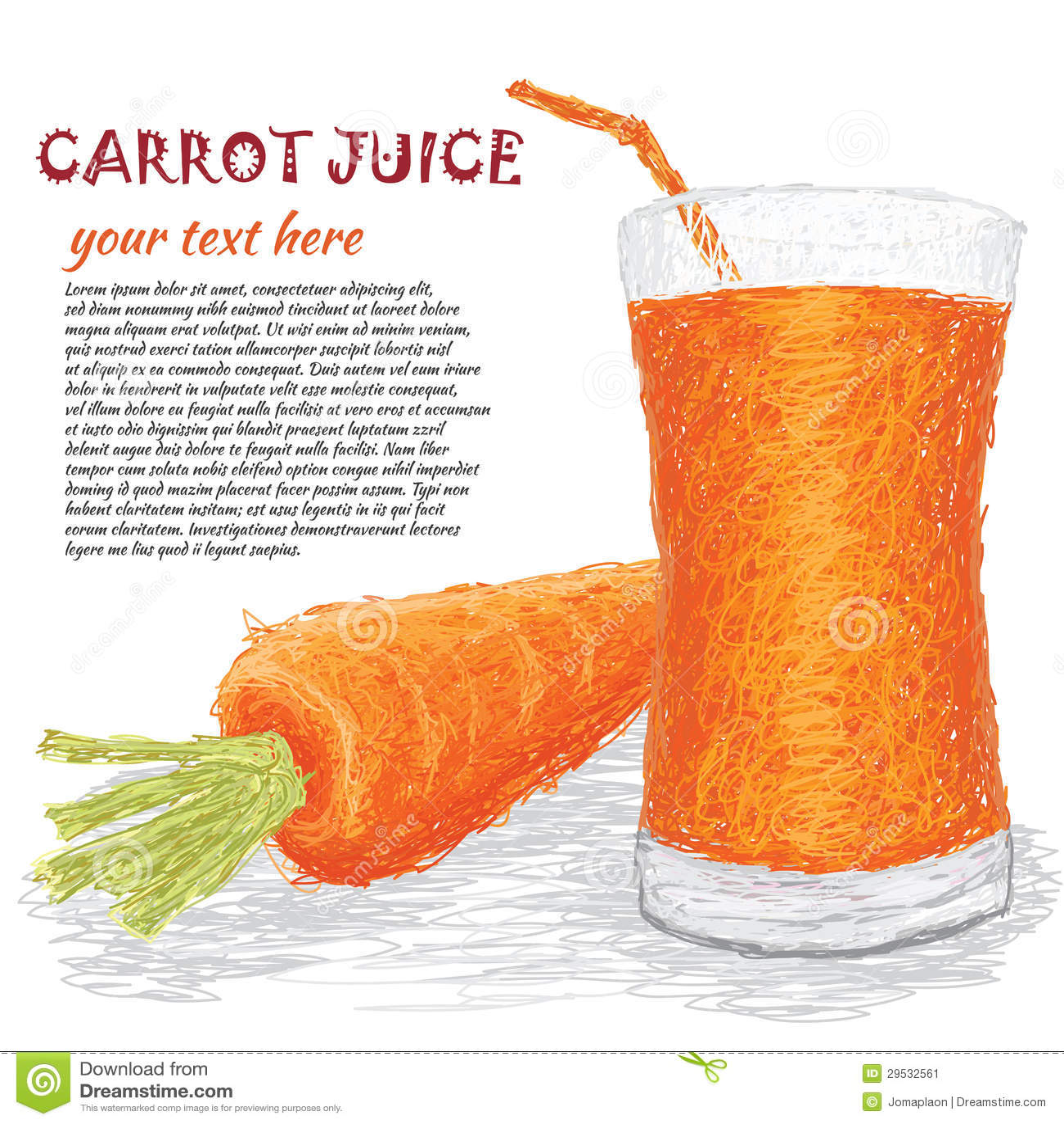 Suco vegetal da cenoura