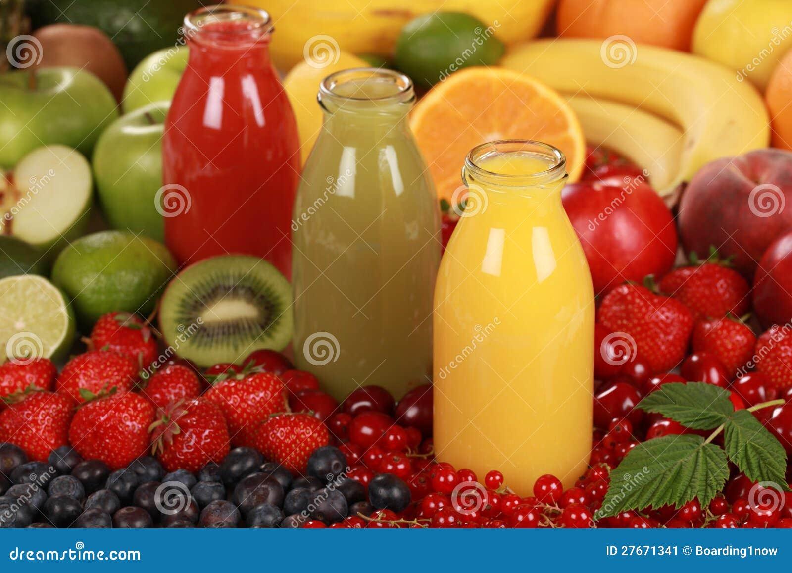 Sucos de fruta fresca