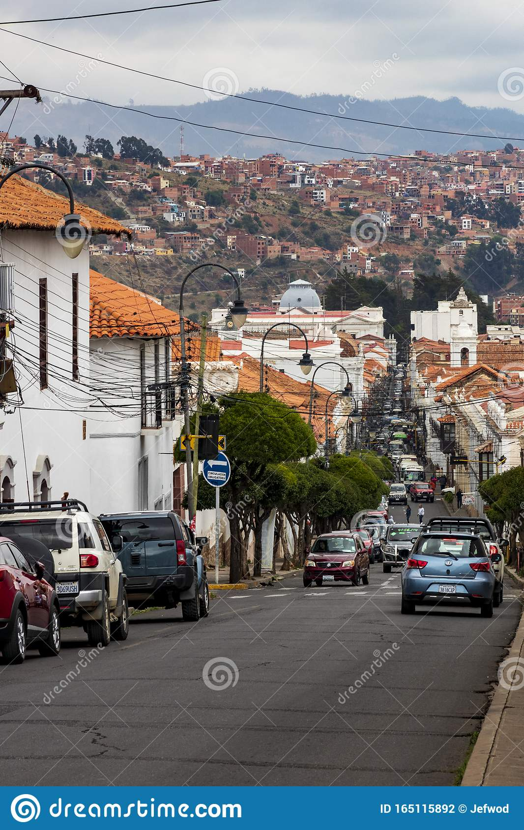 Street At Sucre Capital Of Bolivia Editorial Photography Image Of Famous Sucre 165115892