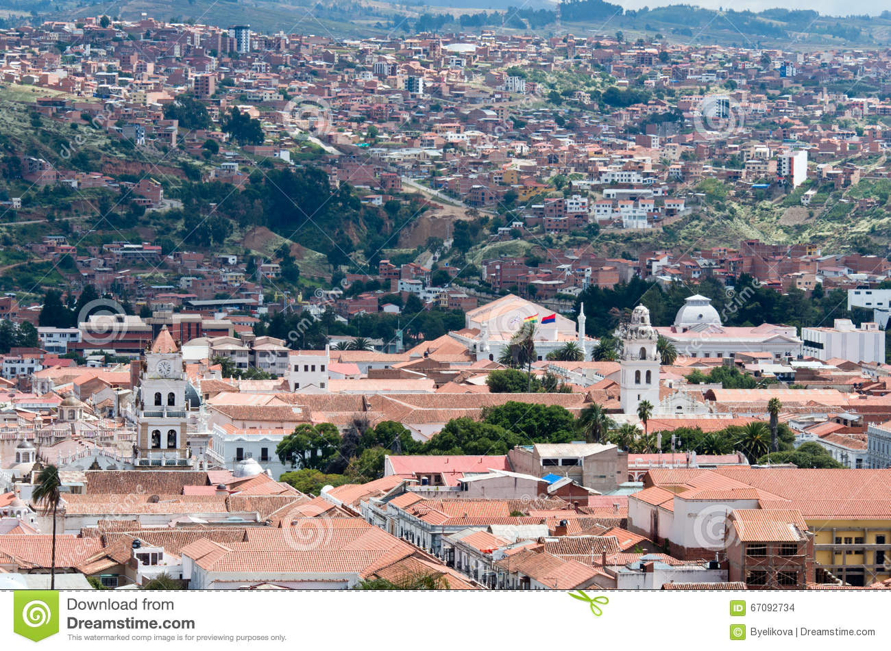 Sucre Capital Of Bolivia Stock Photo Image Of Colonial 67092734