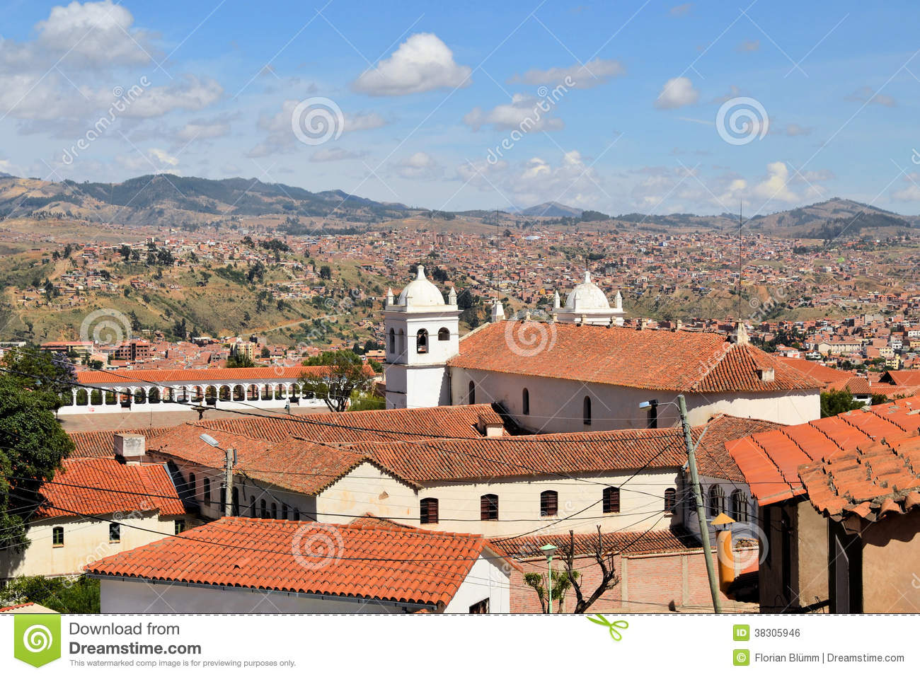 Sucre Capital Of Bolivia The White City Stock Photo Image Of Flowers Outdoor 38305946
