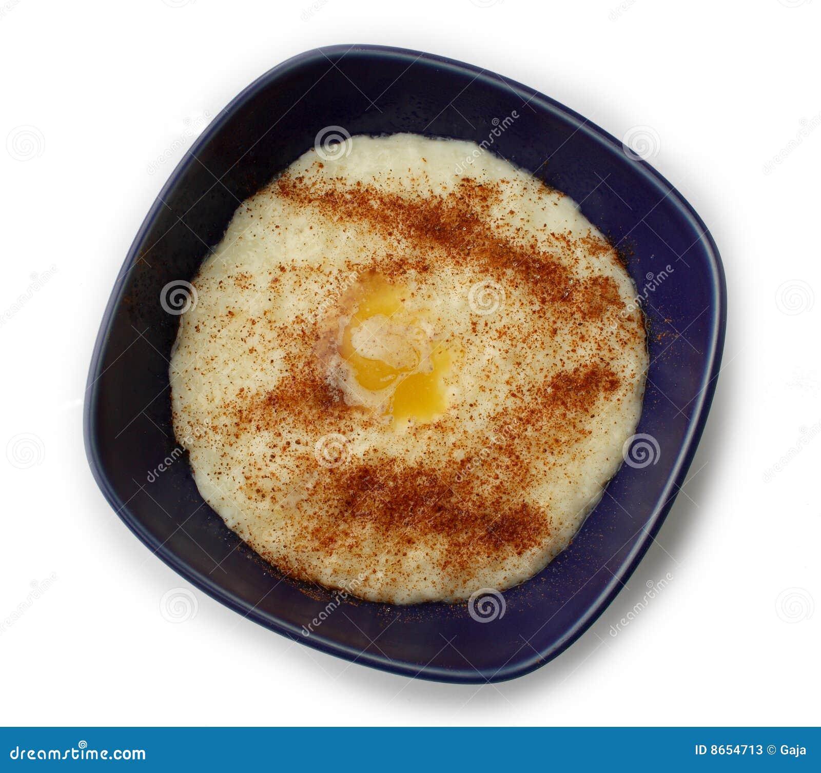 Sucre de riz de gruau de cannelle de beurre
