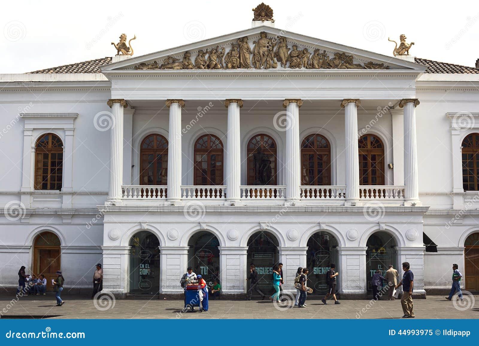 Sucre National Theater On Plaza Del Teatro In Quito