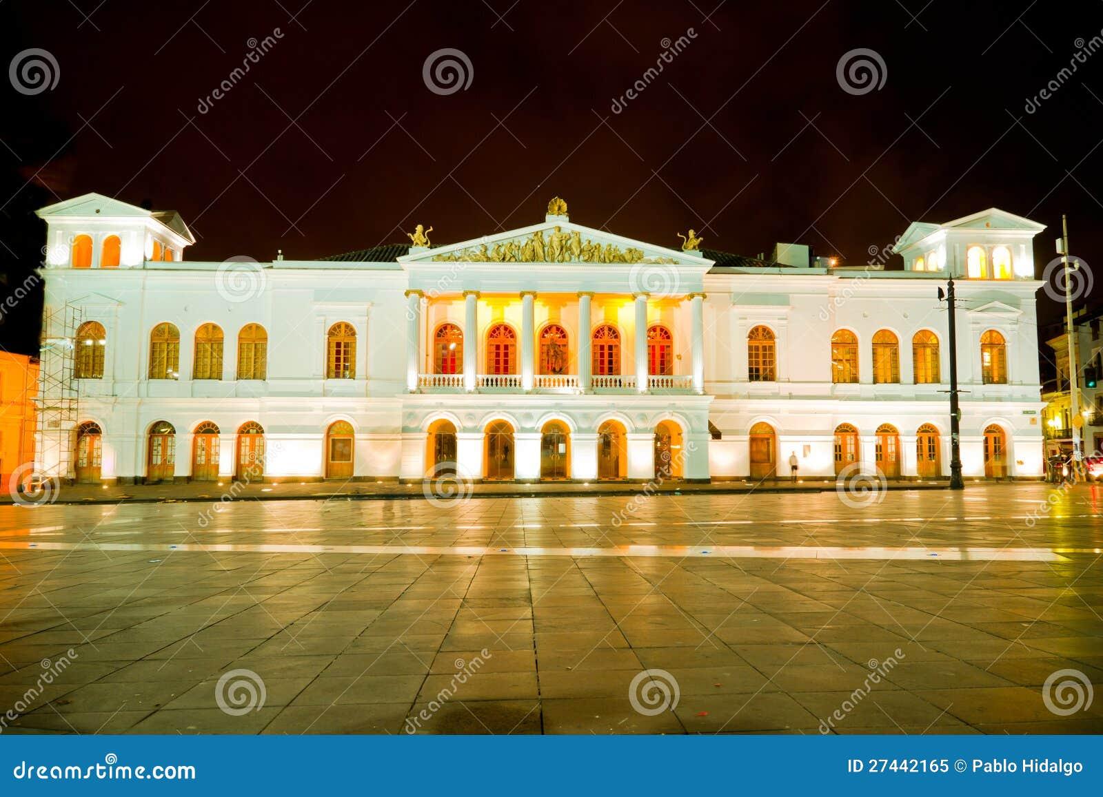 Sucre Theather Historic Center Of Quito, Ecuador. Stock