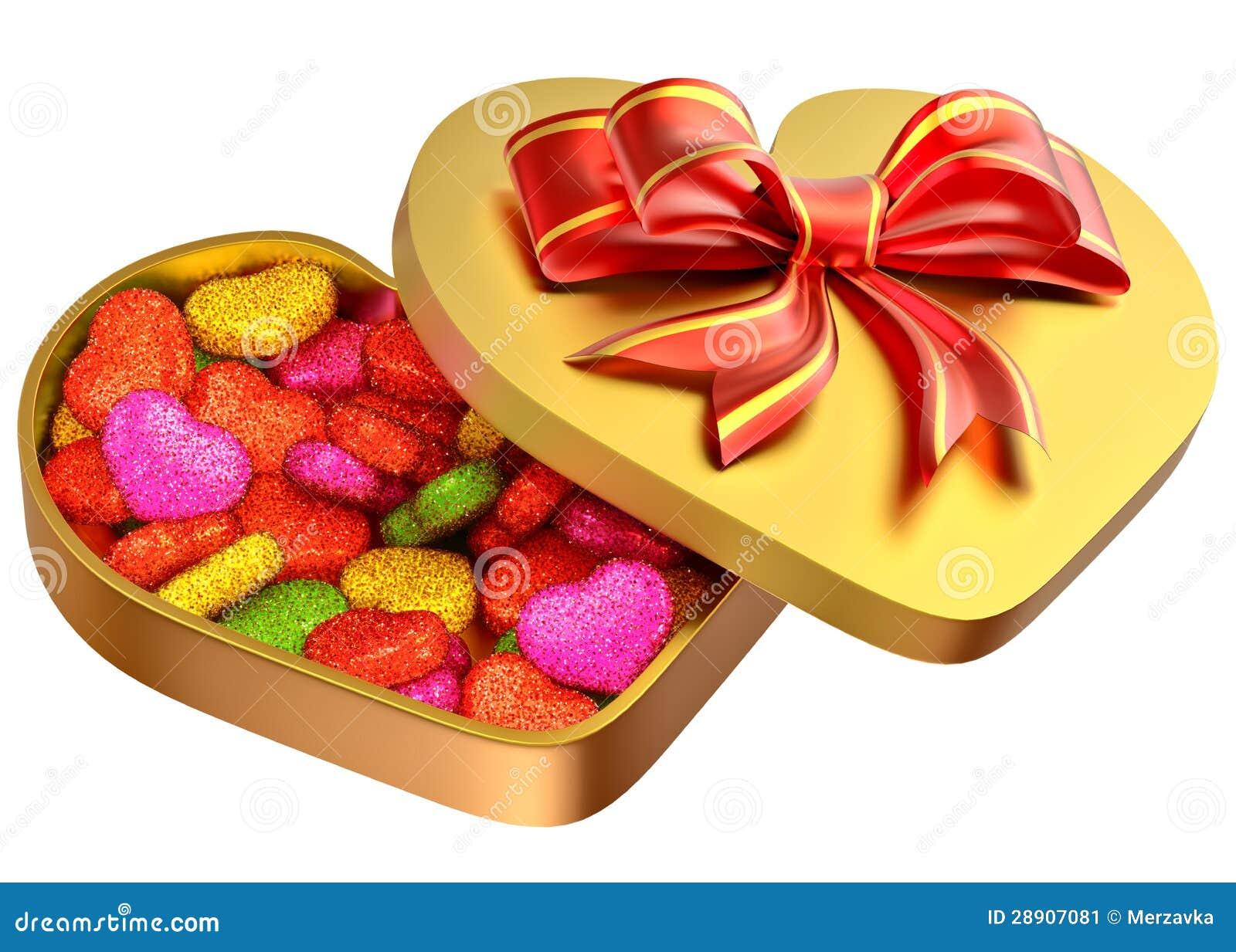 sucrerie dans un cadre comme cadeau pour la saint valentin image stock image 28907081. Black Bedroom Furniture Sets. Home Design Ideas